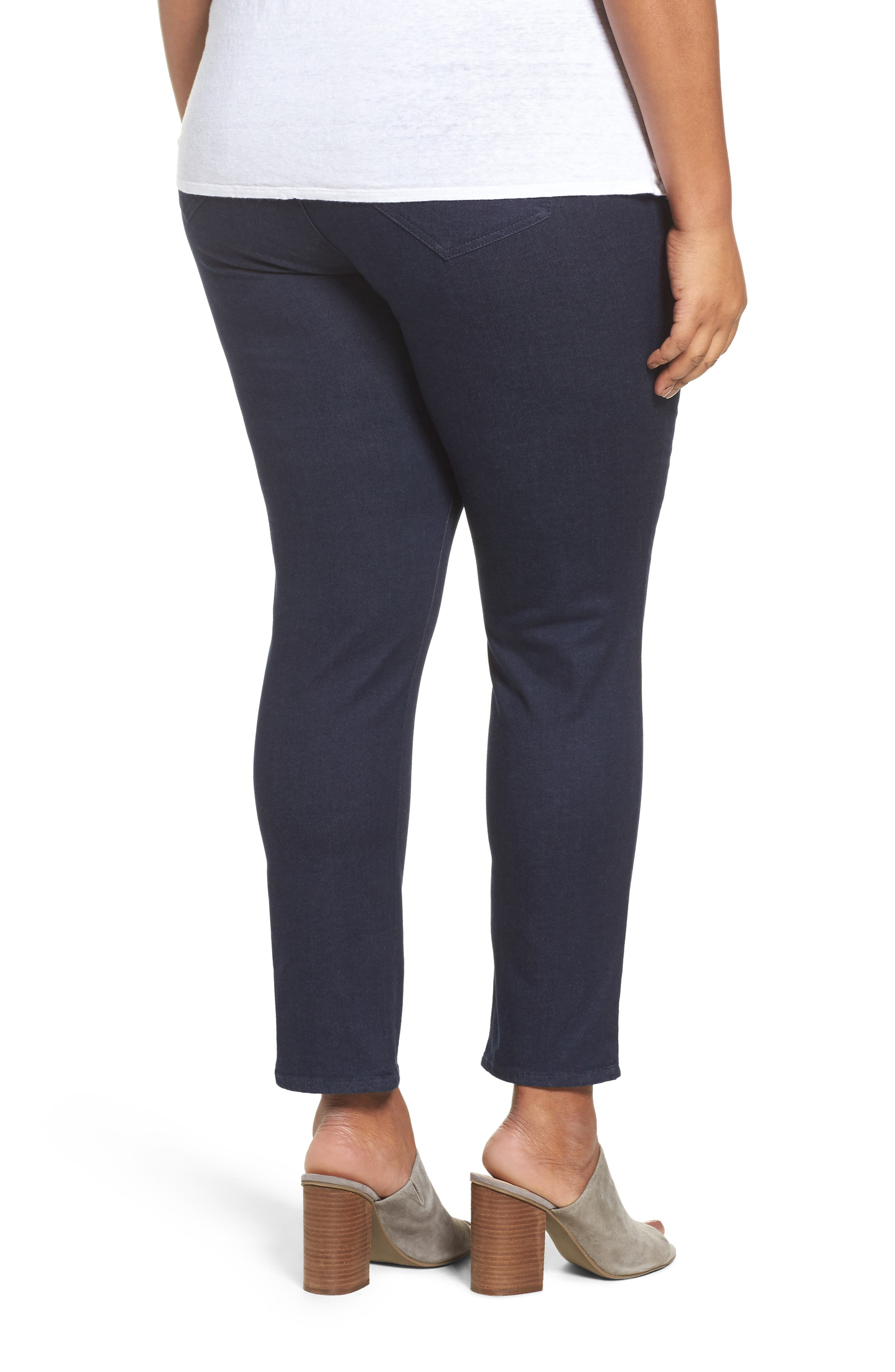 Nina High Rise Slimming Pants,                             Alternate thumbnail 2, color,                             INDIGO