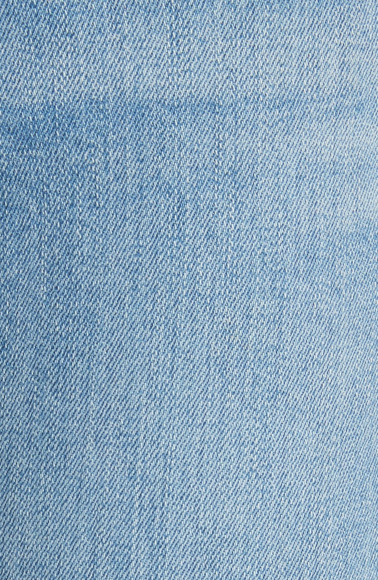 Ripped Ankle Skinny Jeans,                             Alternate thumbnail 5, color,