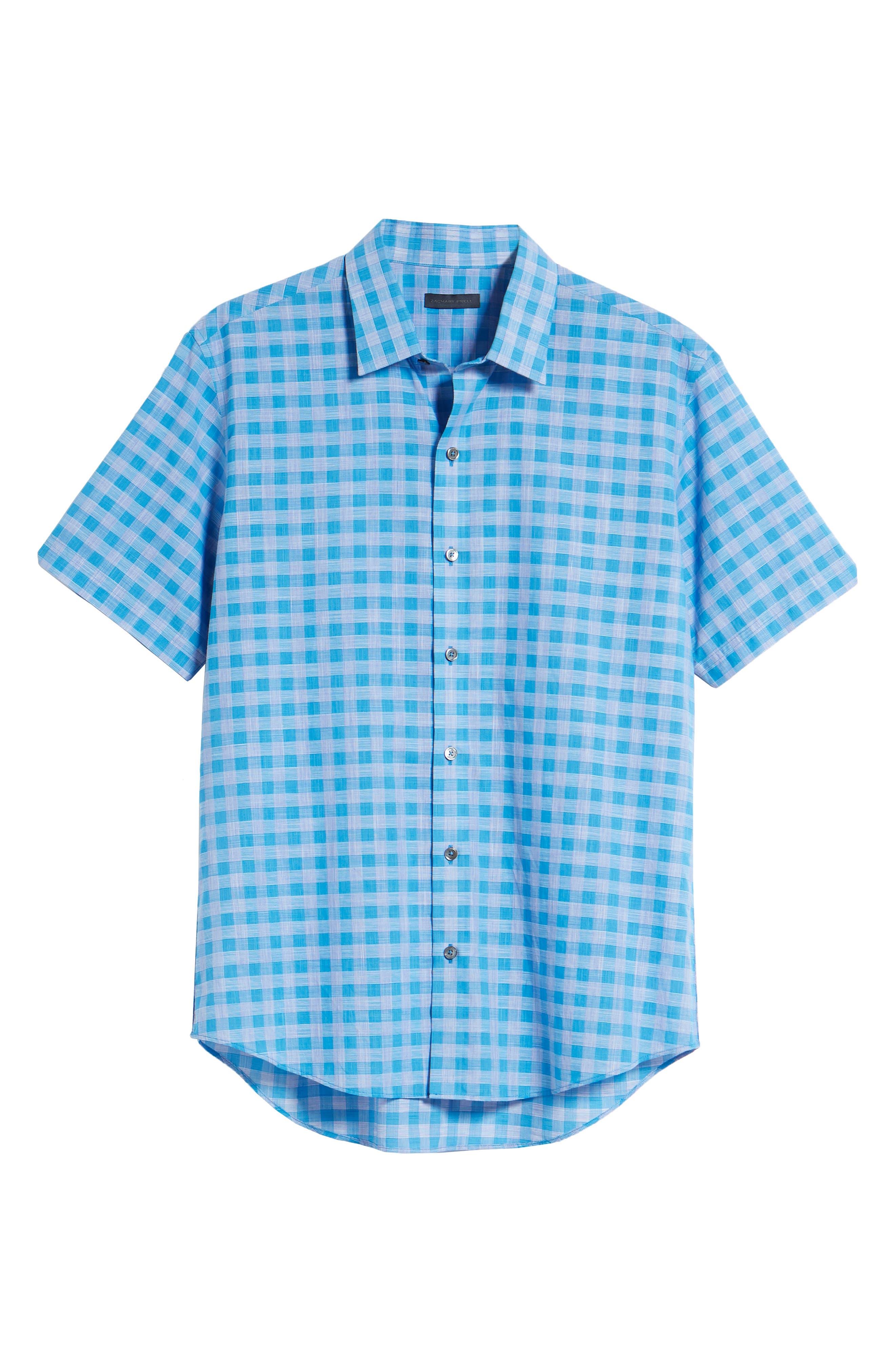 Ruder Regular Fit Check Sport Shirt,                             Alternate thumbnail 6, color,                             430