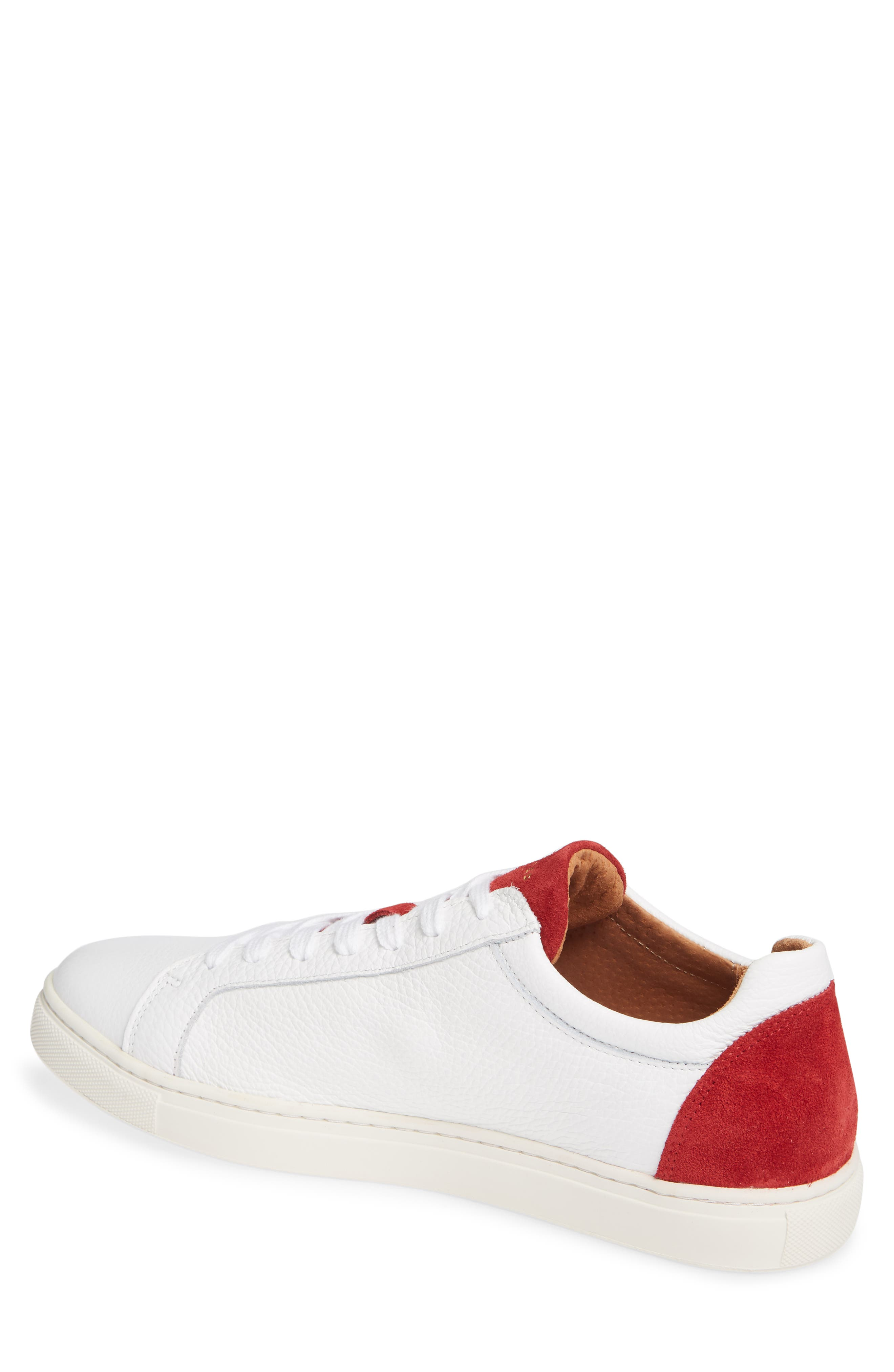 David Colorblock Sneaker,                             Alternate thumbnail 2, color,                             WHITE/ BARBADOS CHERRY