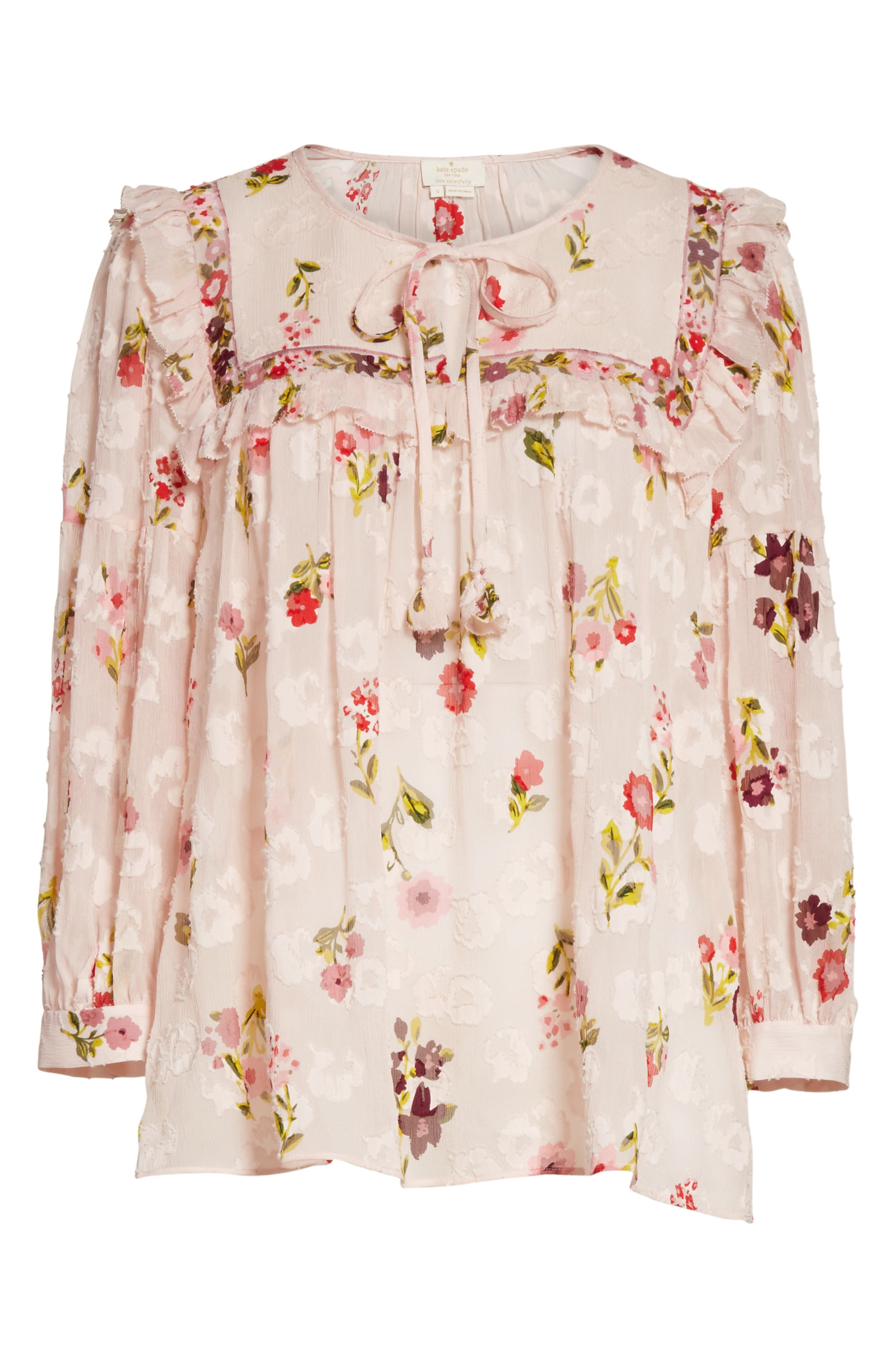 in bloom chiffon top,                             Alternate thumbnail 6, color,                             677