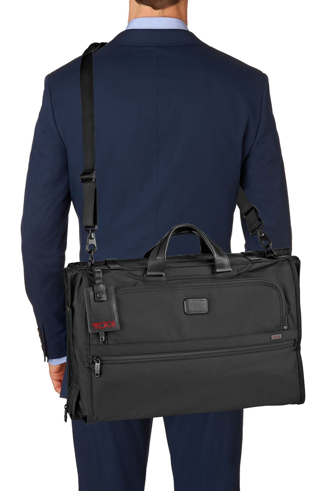 Alpha 2 22-Inch Trifold Carry-On Garment Bag,                             Alternate thumbnail 3, color,                             BLACK