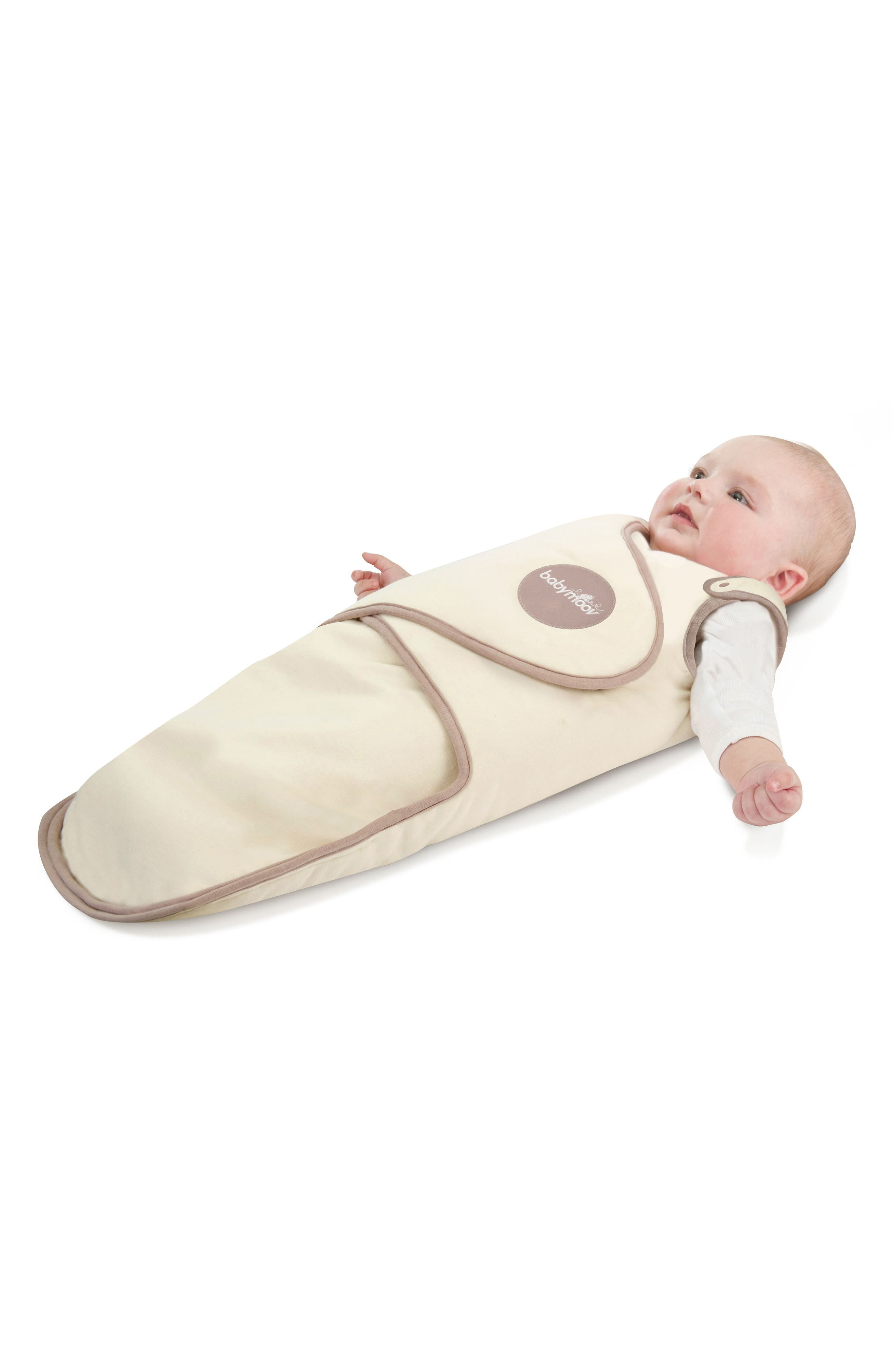 CosyBag Swaddle Wrap Blanket,                             Alternate thumbnail 5, color,                             CREAM