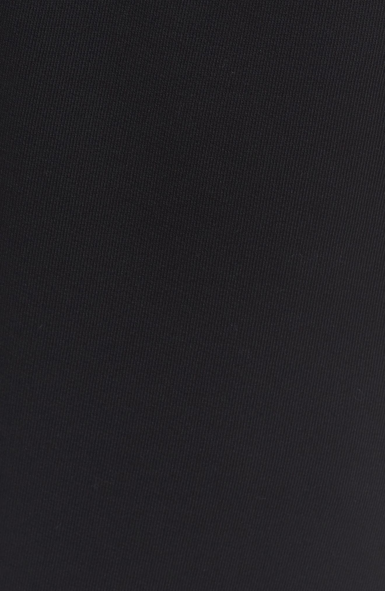 Mix Media Regular Fit Cotton Sweatpants,                             Alternate thumbnail 5, color,                             BLACK