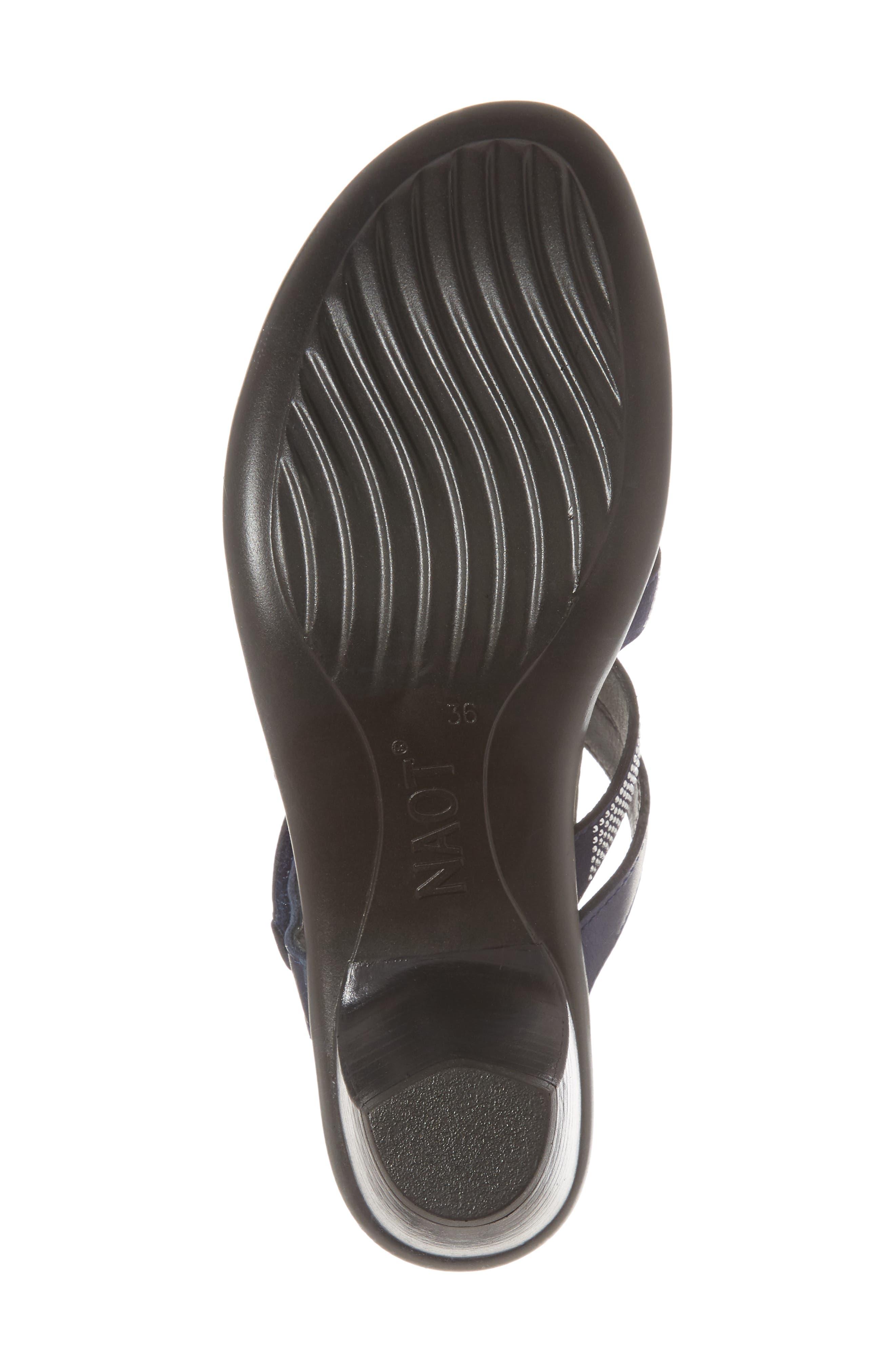 Formal Sandal,                             Alternate thumbnail 6, color,                             DARK BLUE LEATHER