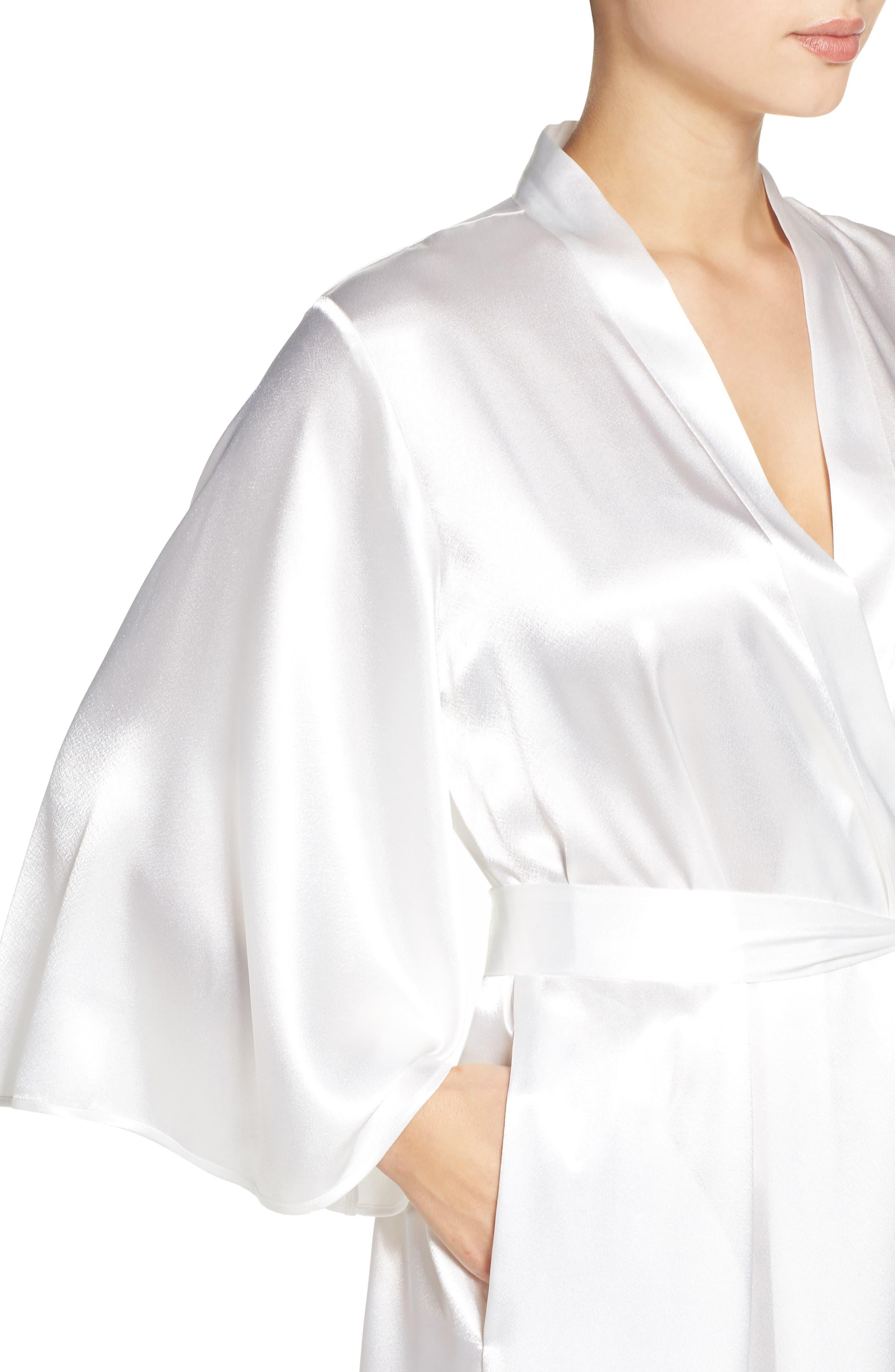 Sleepwear Charmeuse Robe,                             Alternate thumbnail 4, color,                             178