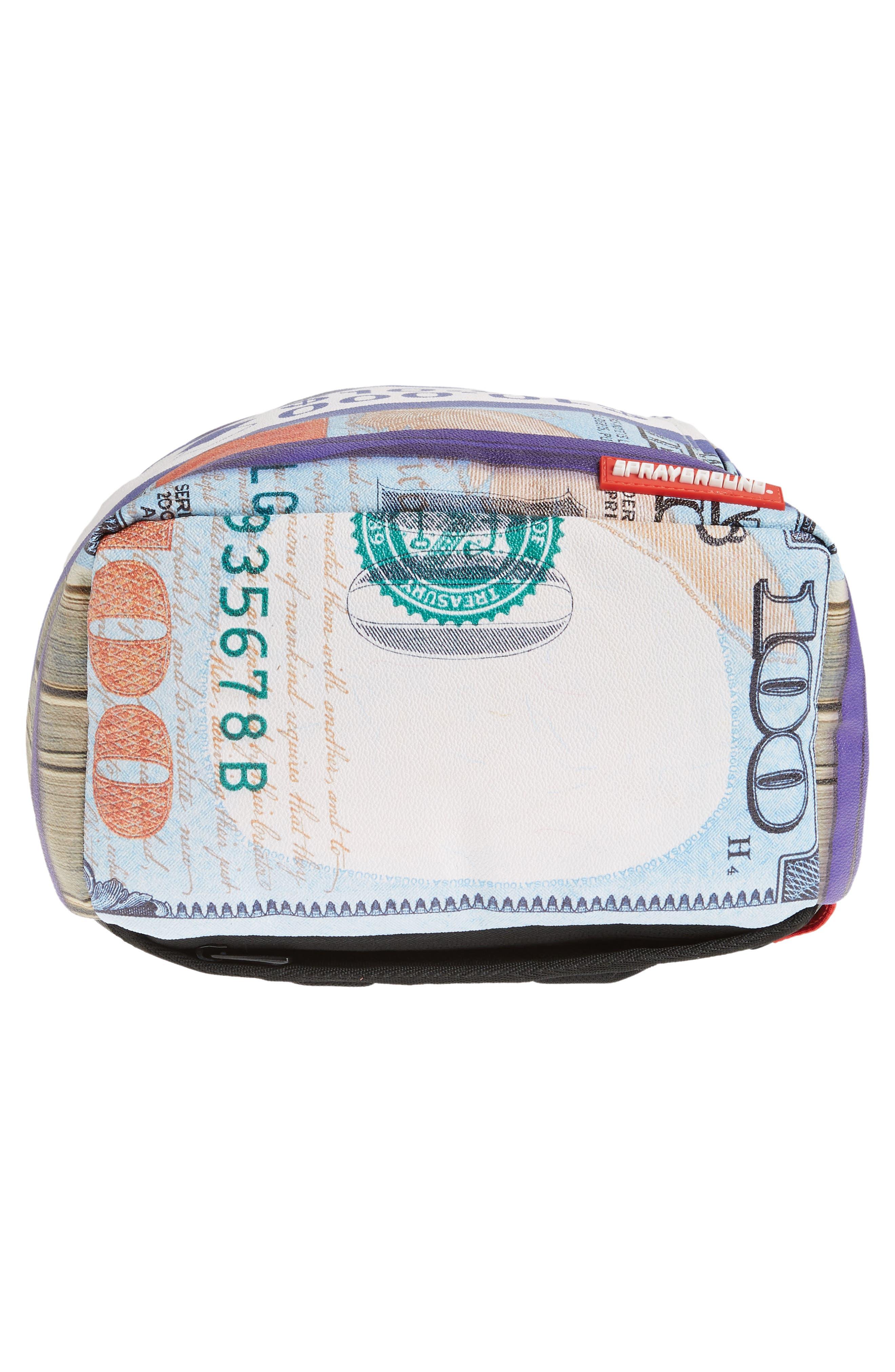 Purple Money Stacks Backpack,                             Alternate thumbnail 6, color,                             500