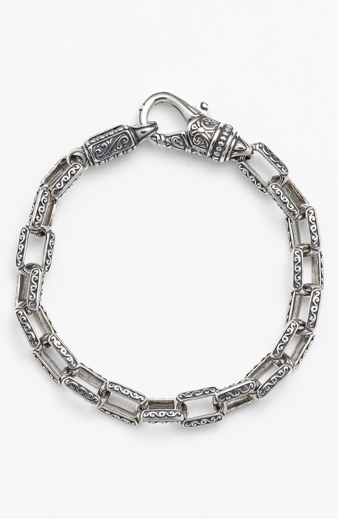 'Classics' Etched Link Bracelet,                             Main thumbnail 1, color,                             040