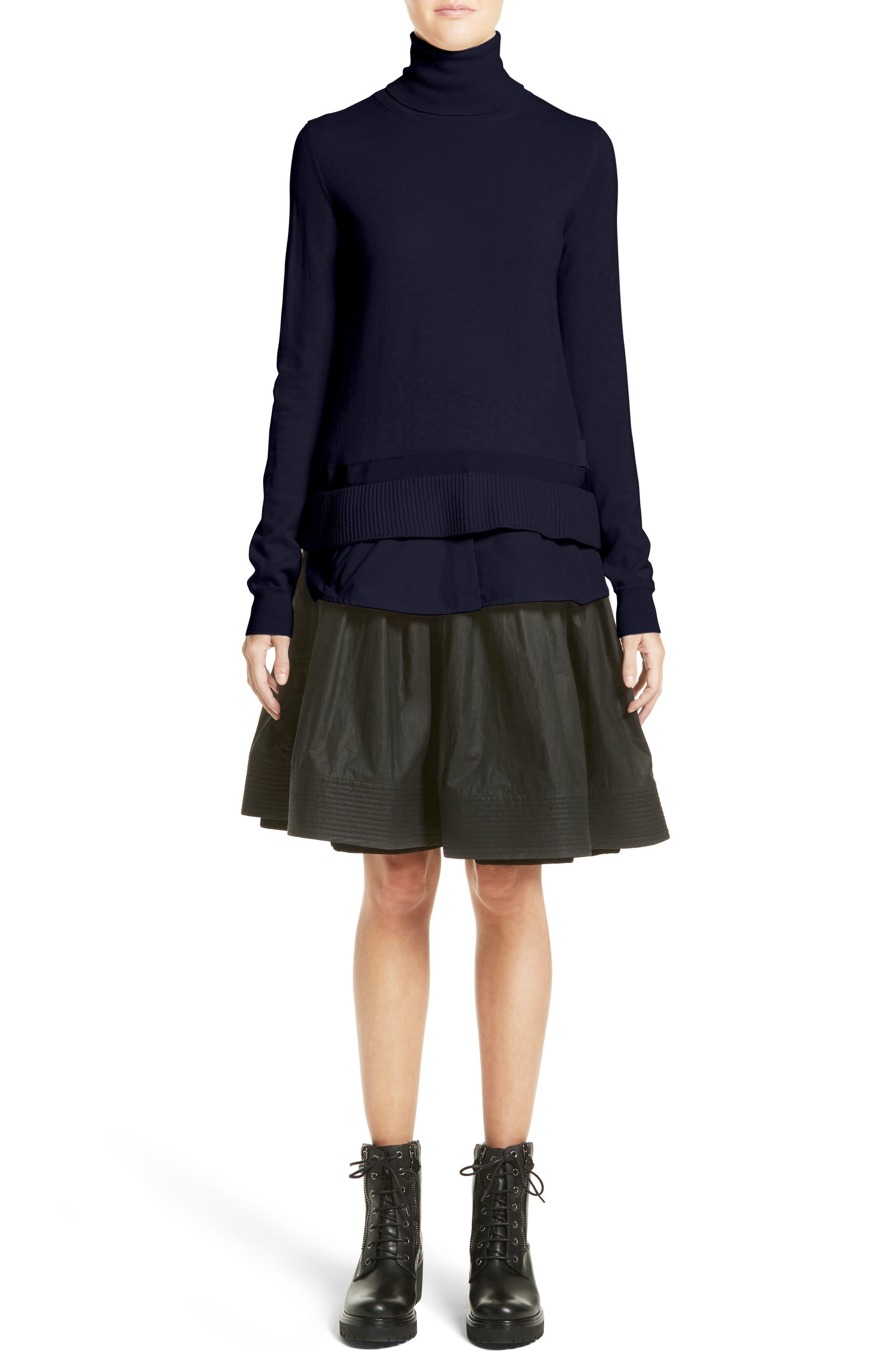 Gonna Cotton A-Line Skirt,                             Alternate thumbnail 6, color,