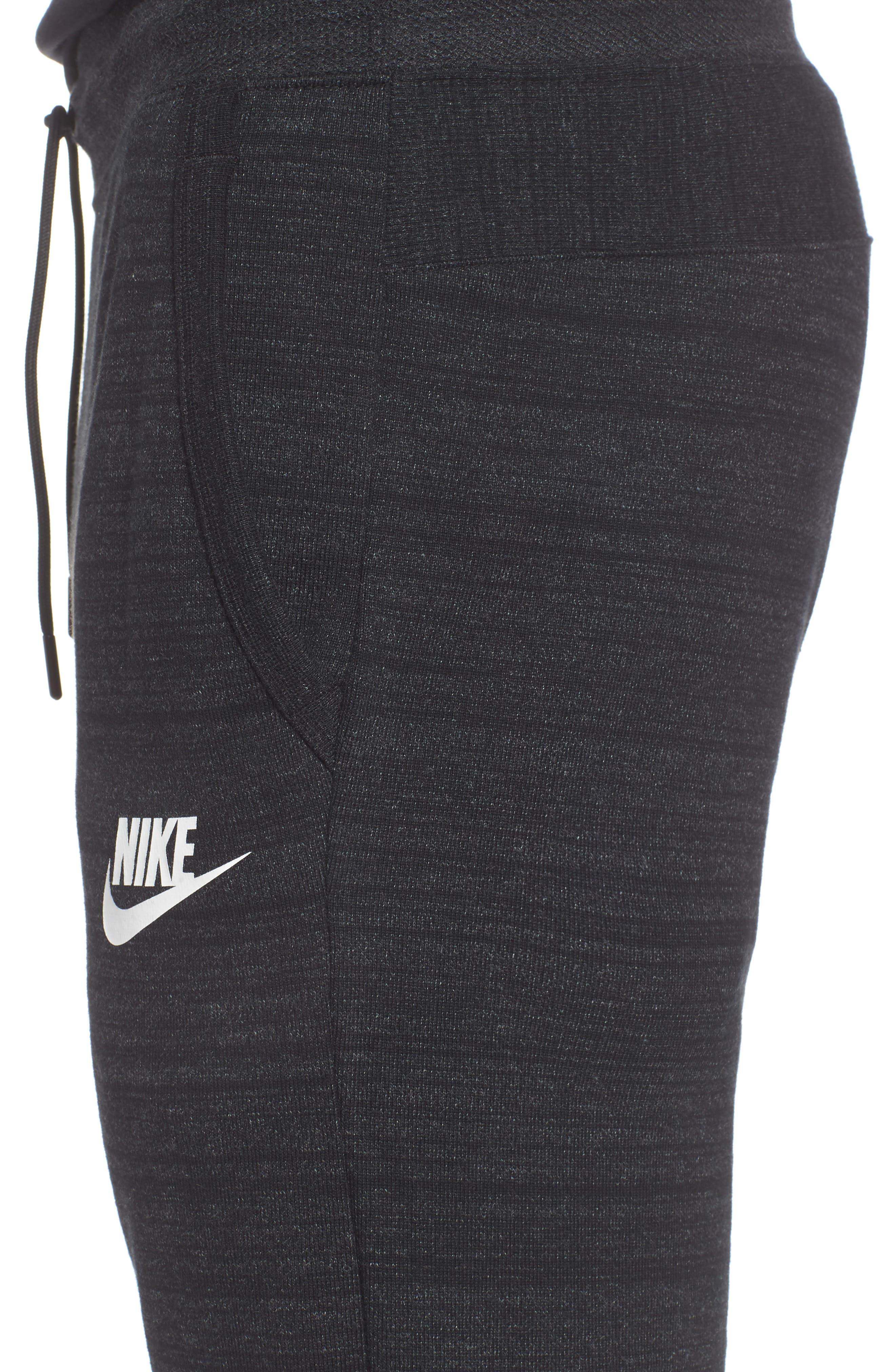 NSW Advance 15 Jogger Pants,                             Alternate thumbnail 4, color,                             BLACK/ HEATHER/ WHITE