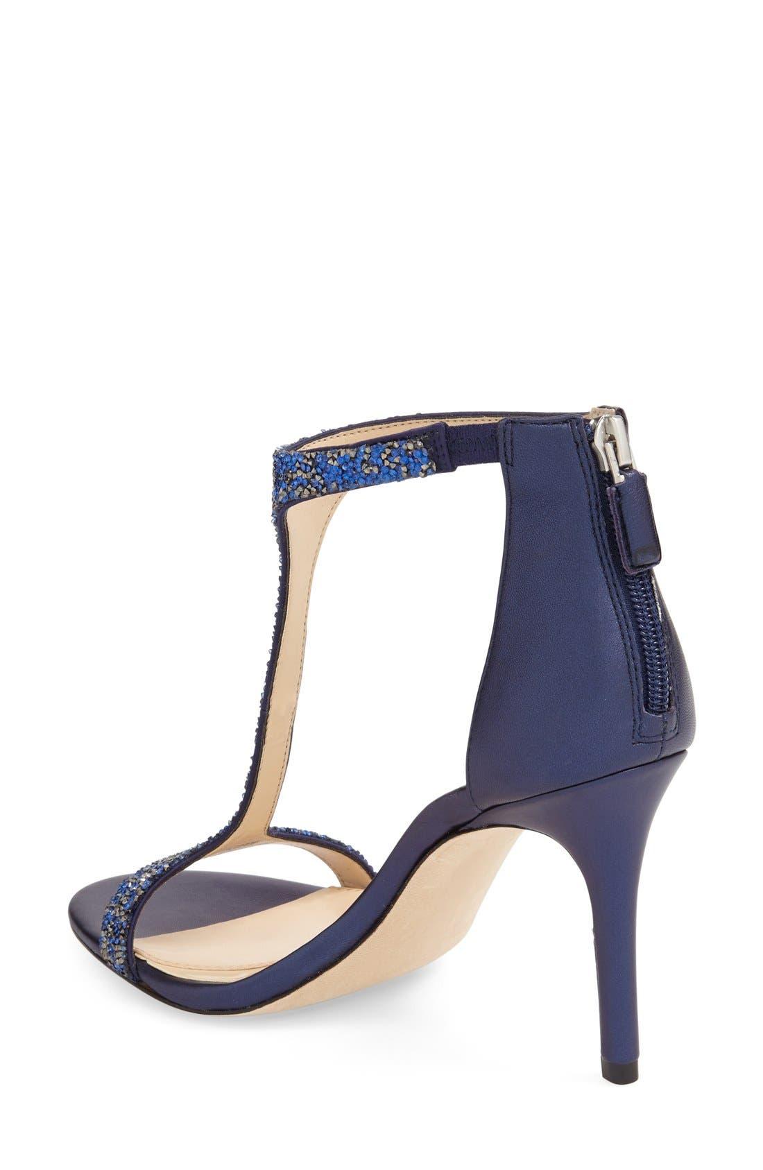 'Phoebe' Embellished T-Strap Sandal,                             Alternate thumbnail 22, color,