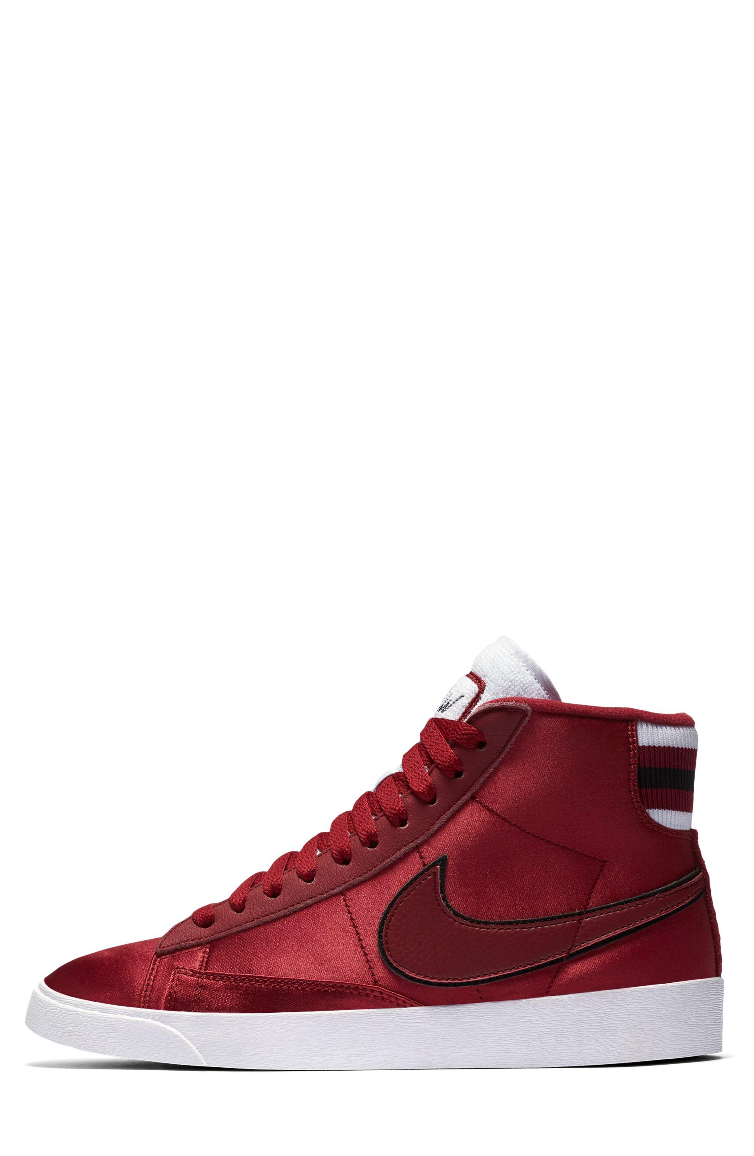 Blazer Mid Top Sneaker,                             Alternate thumbnail 3, color,                             RED CRUSH/ WHITE/ BLACK