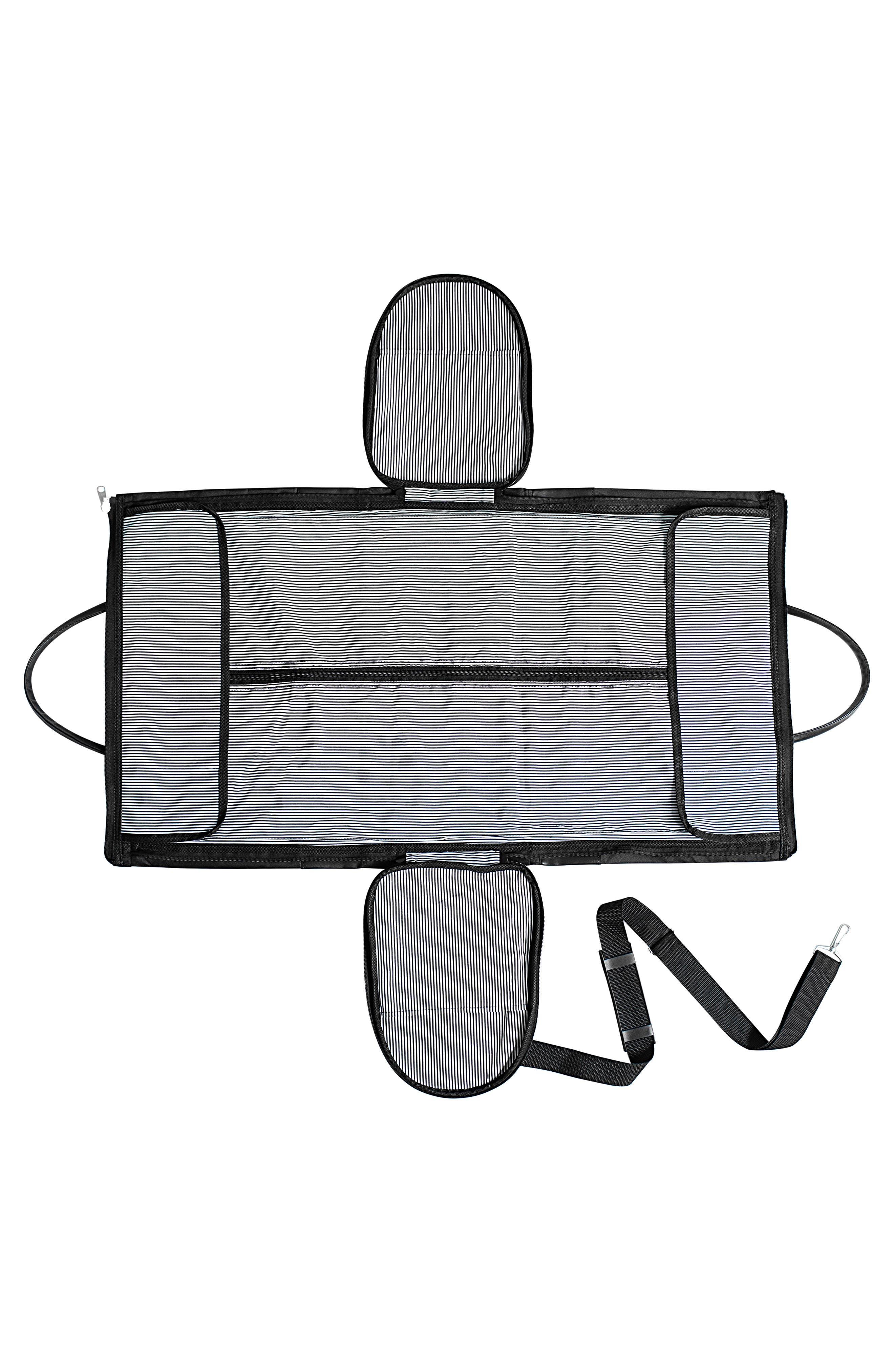 Monogram Duffel/Garment Bag,                             Alternate thumbnail 2, color,                             BLACK