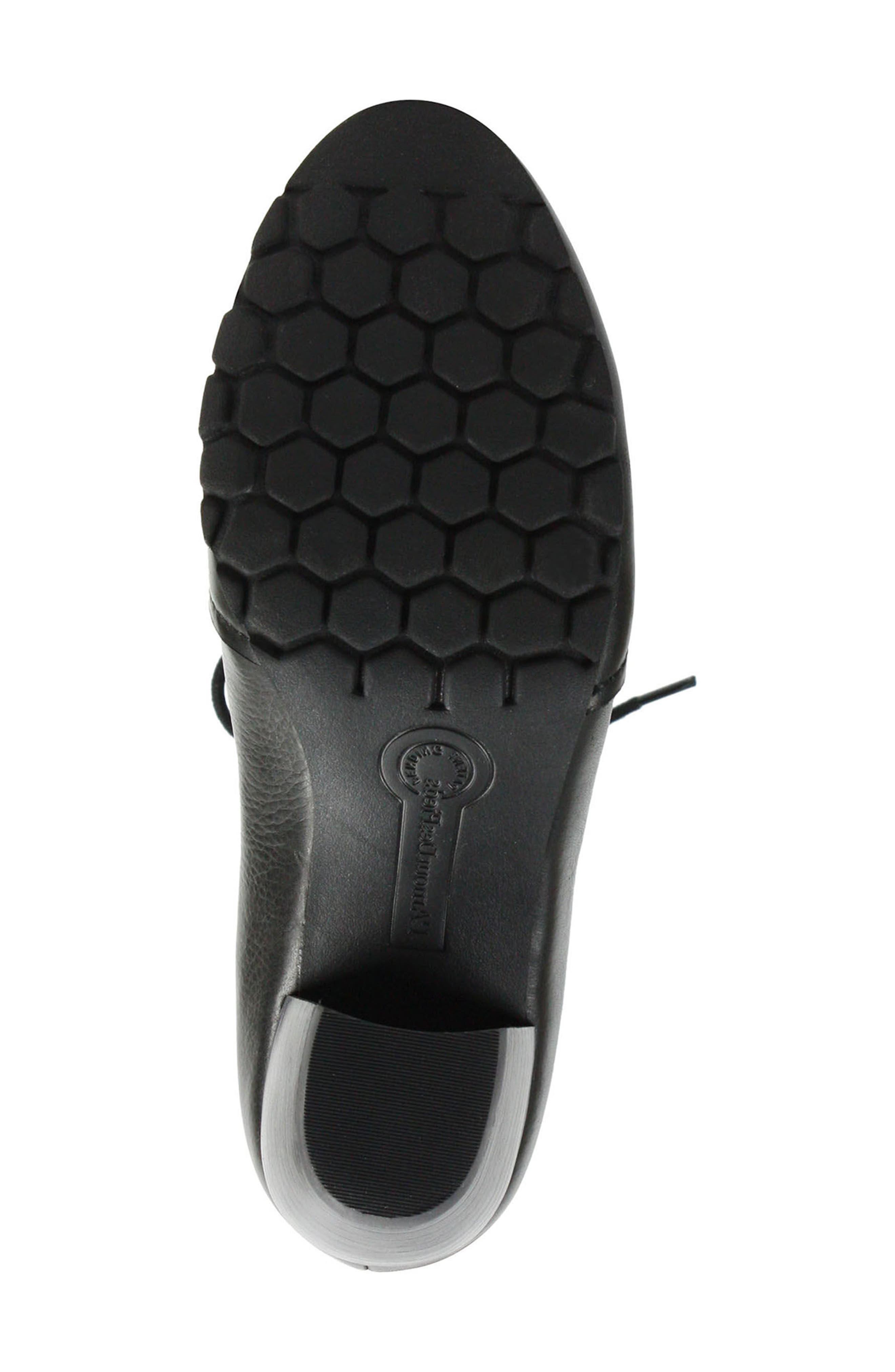Pontedera Lace-Up Bootie,                             Alternate thumbnail 4, color,                             BLACK LEATHER