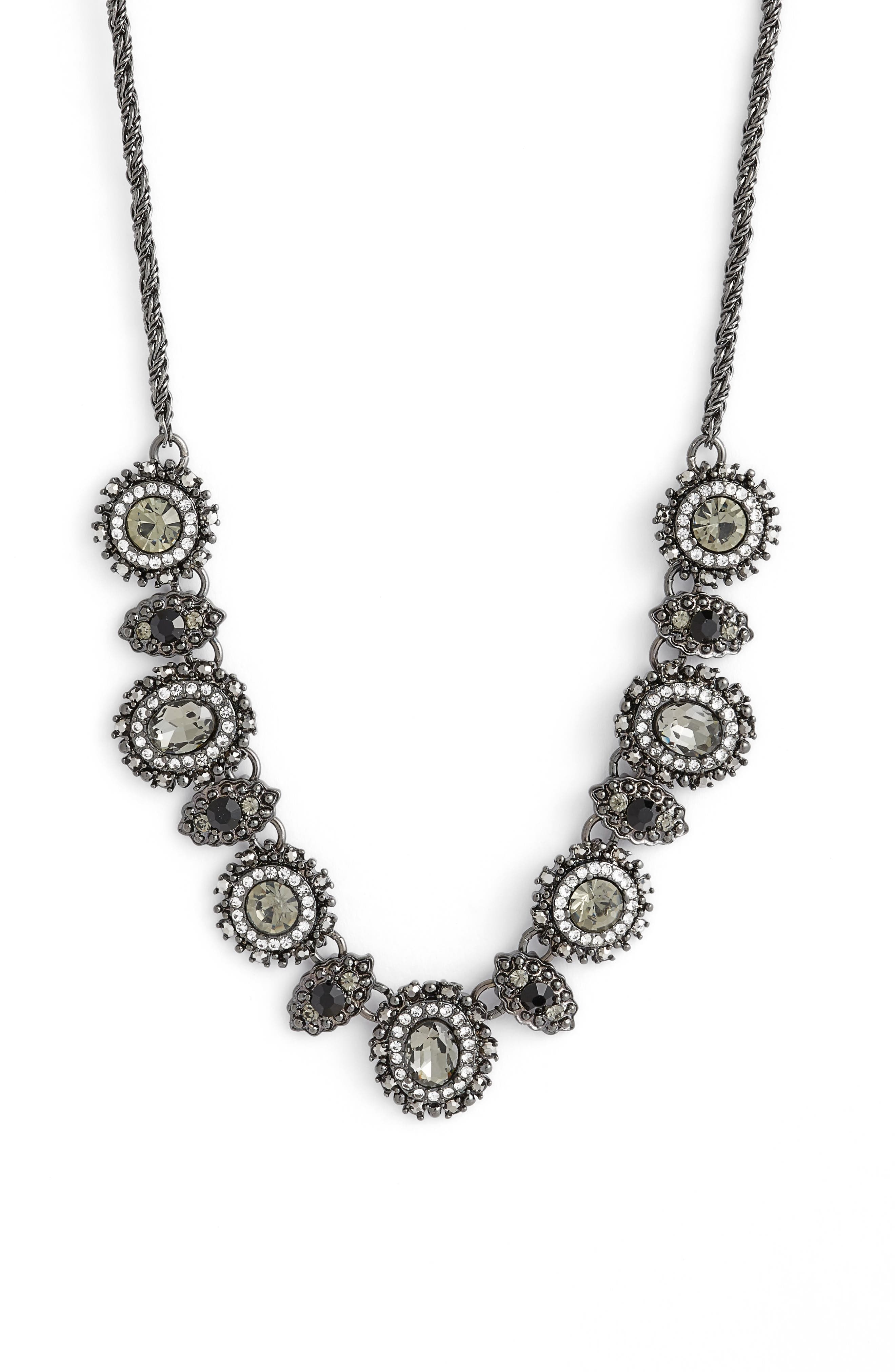 Crystal Frontal Necklace, Main, color, 001