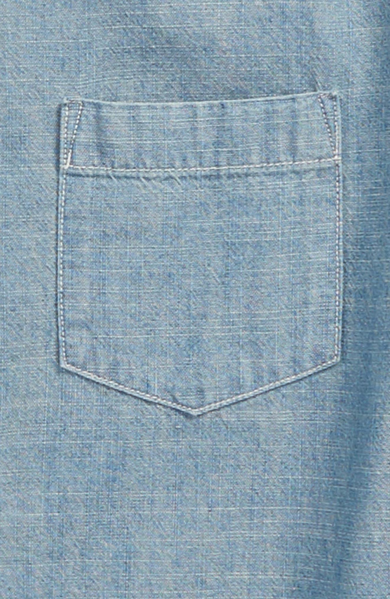 Chambray Woven Shirt,                             Alternate thumbnail 2, color,