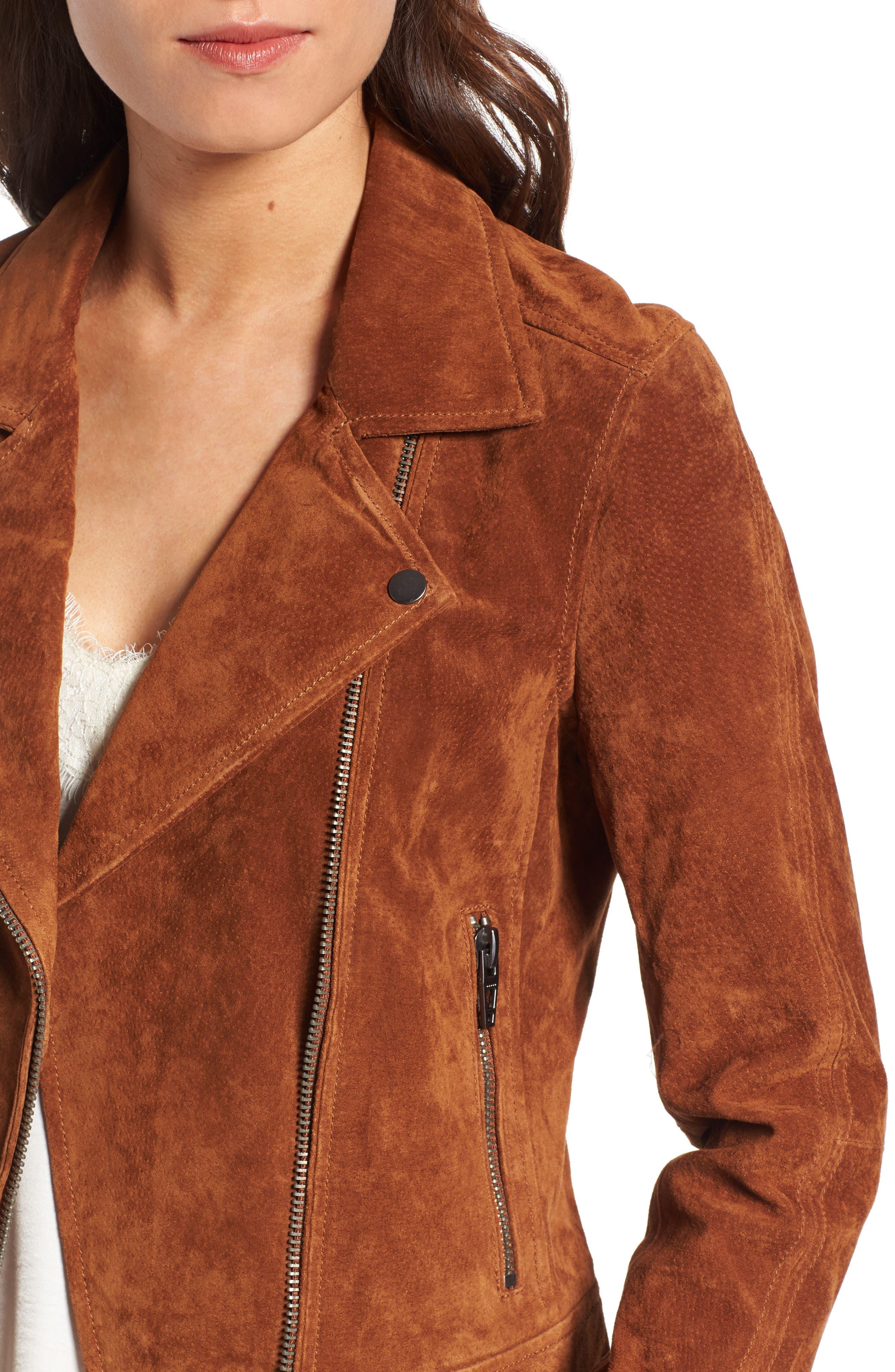 Suede Moto Jacket,                             Alternate thumbnail 34, color,