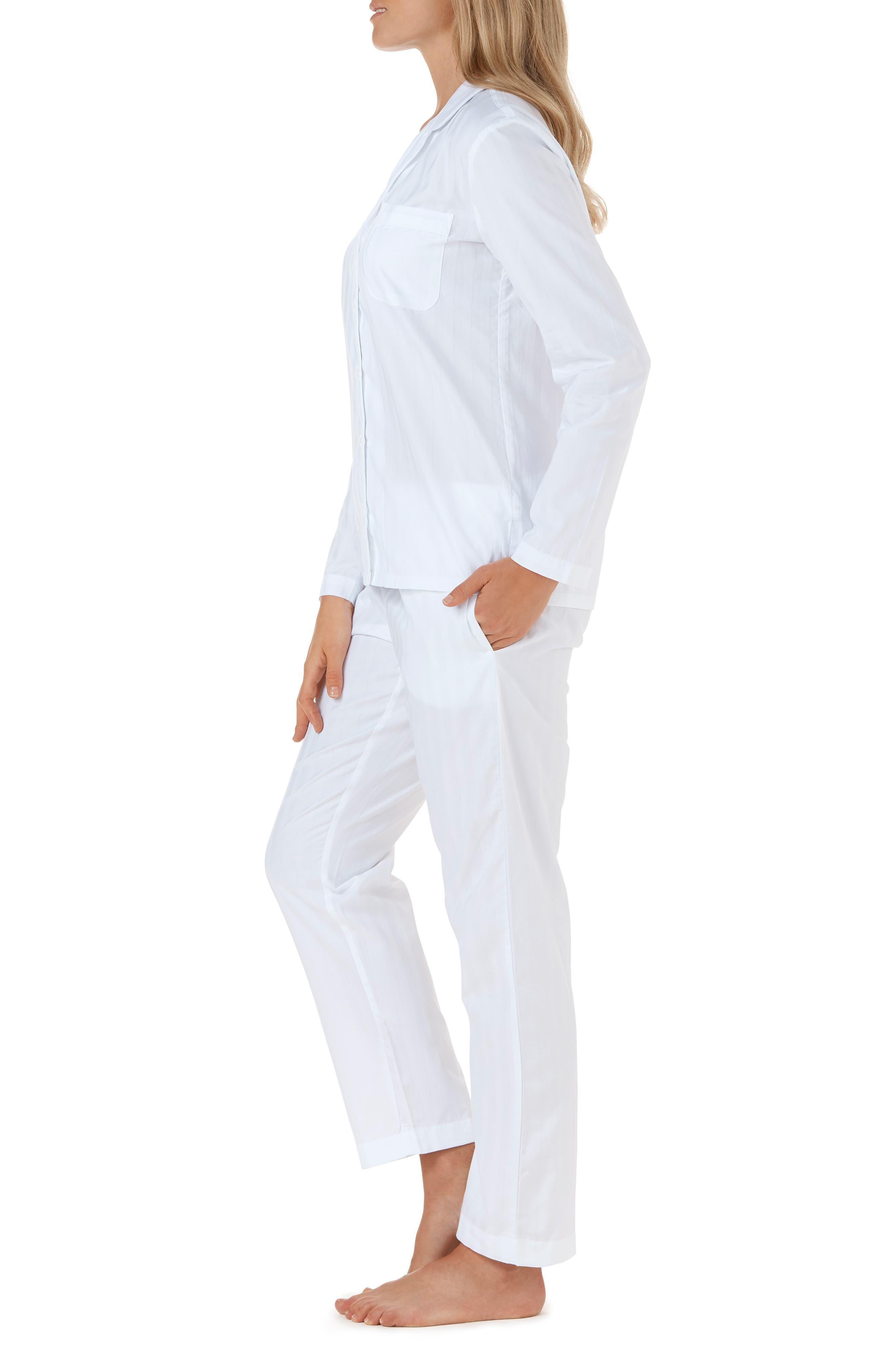 THE WHITE COMPANY,                             Cotton Pajamas,                             Alternate thumbnail 3, color,                             WHITE