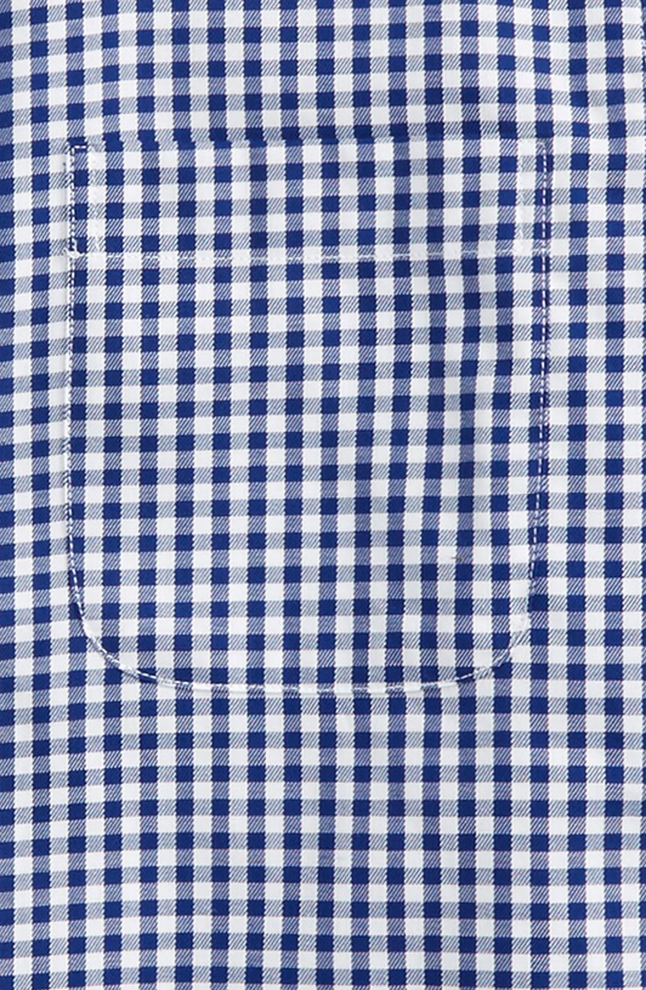 Non-Iron Check Dress Shirt,                             Alternate thumbnail 4, color,