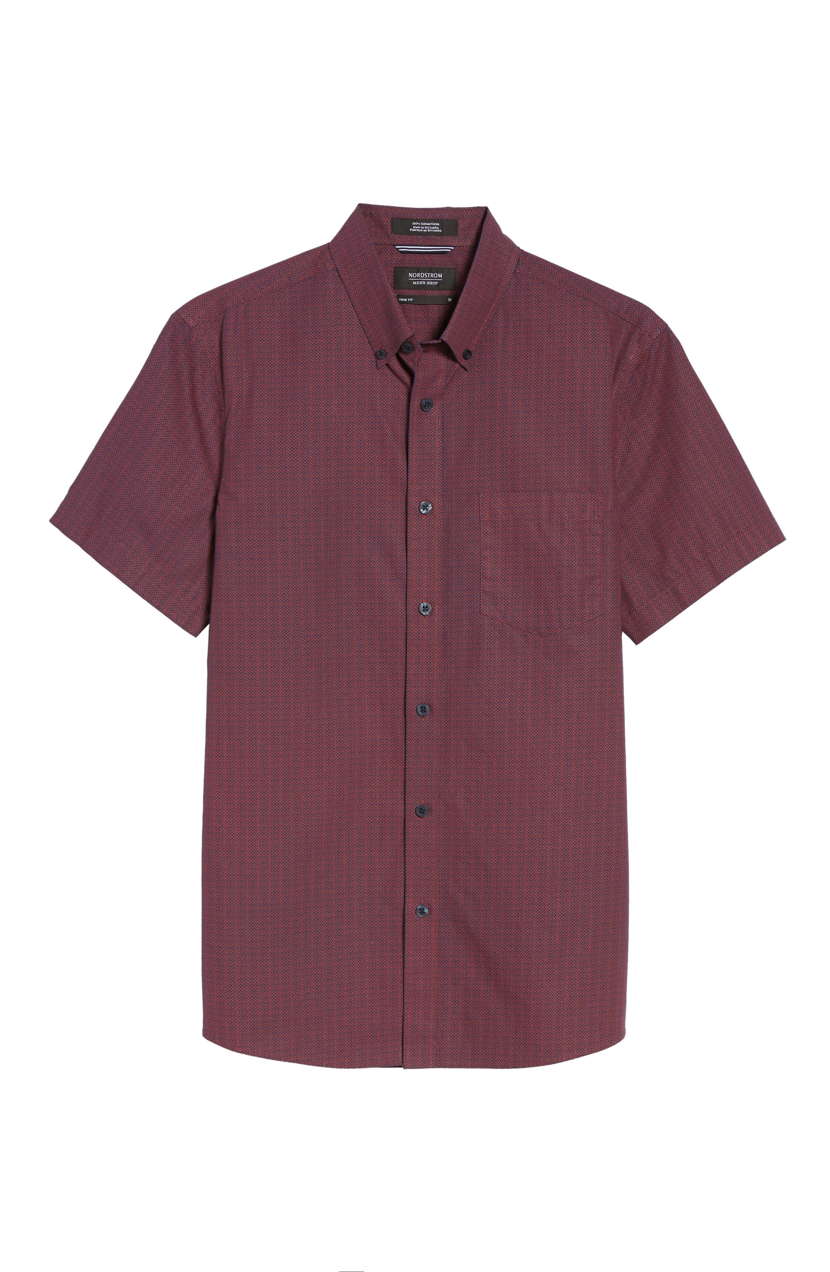 Slim Fit Print Sport Shirt,                             Alternate thumbnail 6, color,                             601