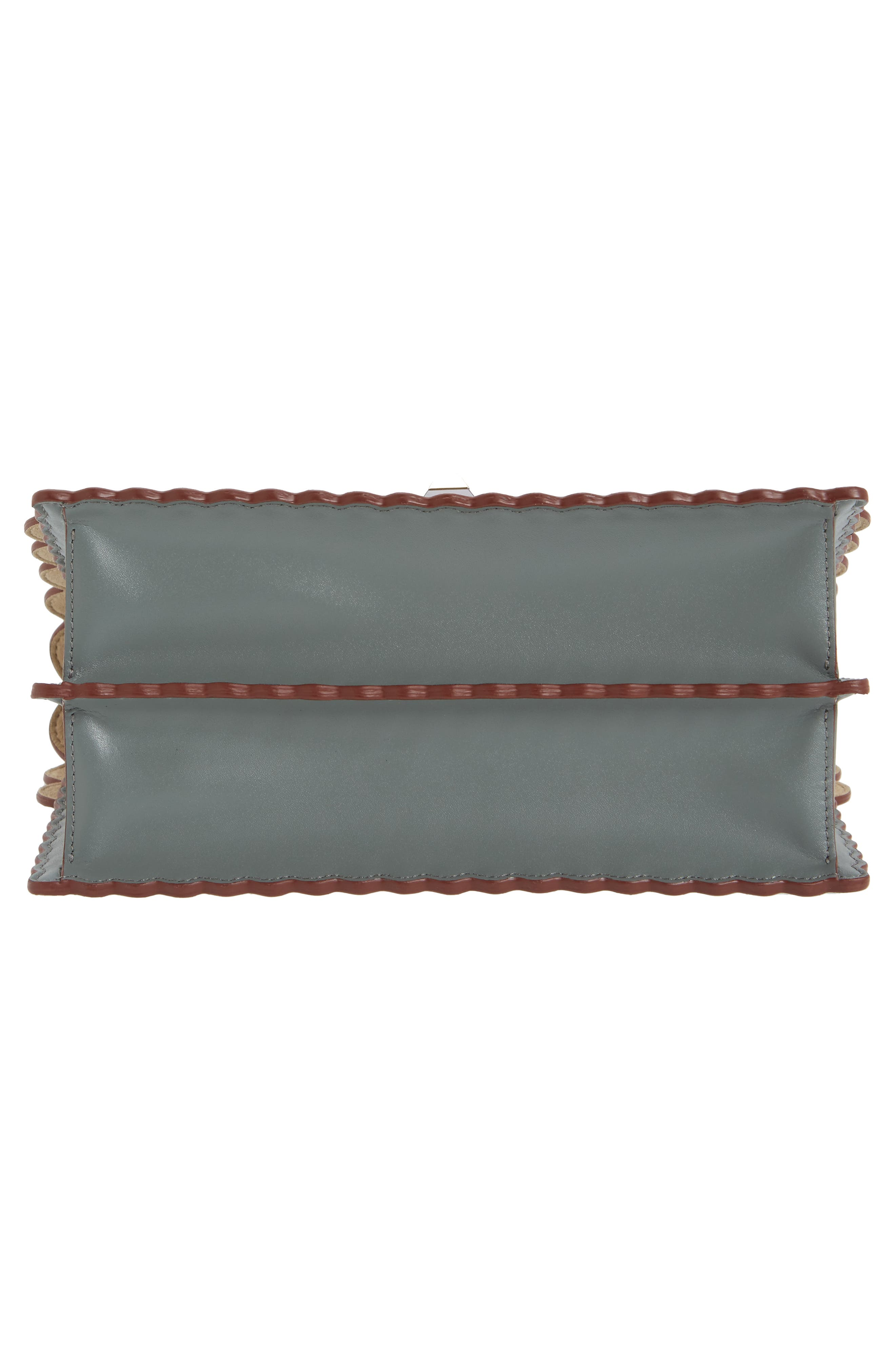 Kan I Scallop Leather Shoulder Bag,                             Alternate thumbnail 6, color,                             348