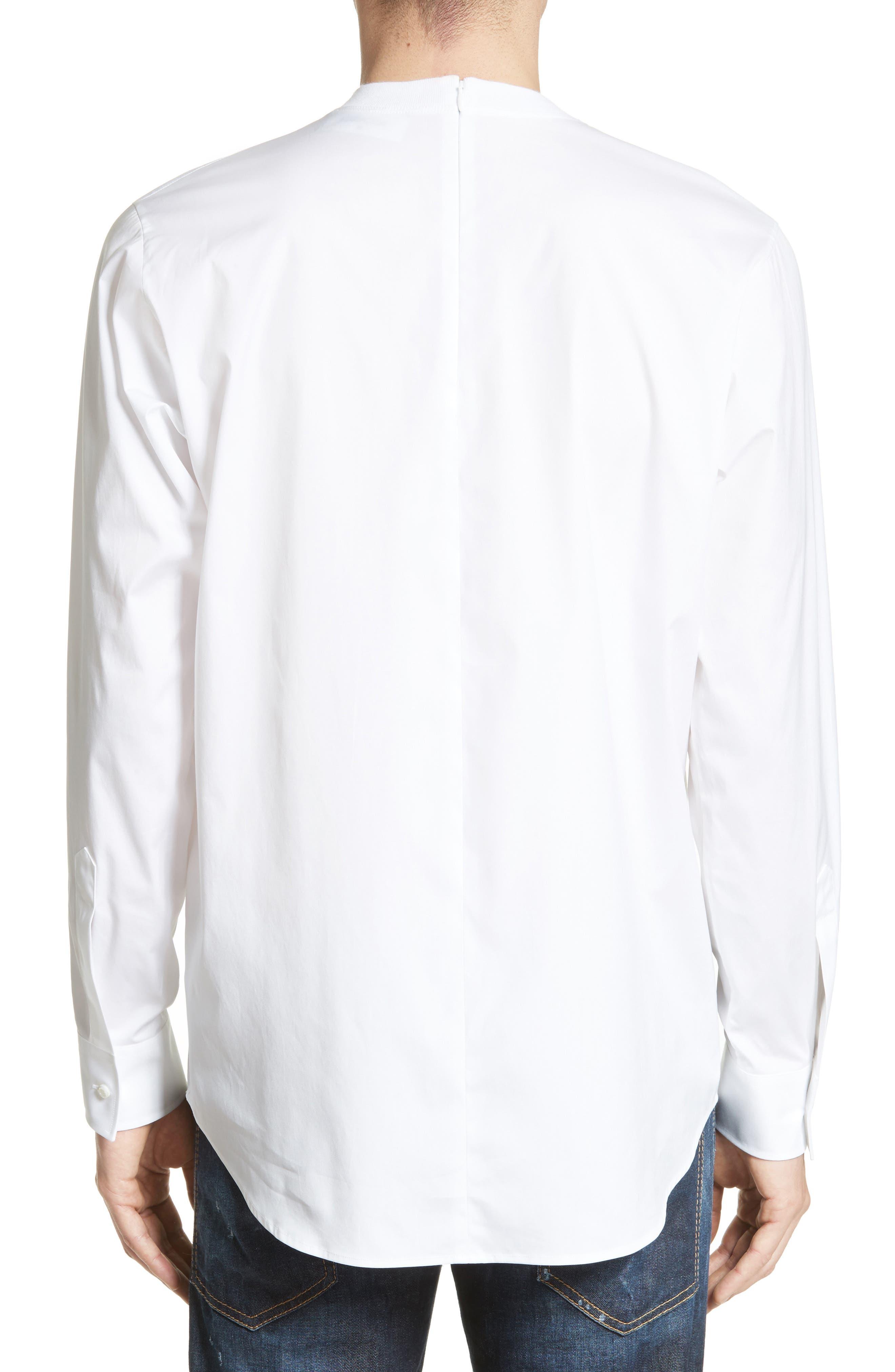 Crewneck Poplin Shirt,                             Alternate thumbnail 2, color,
