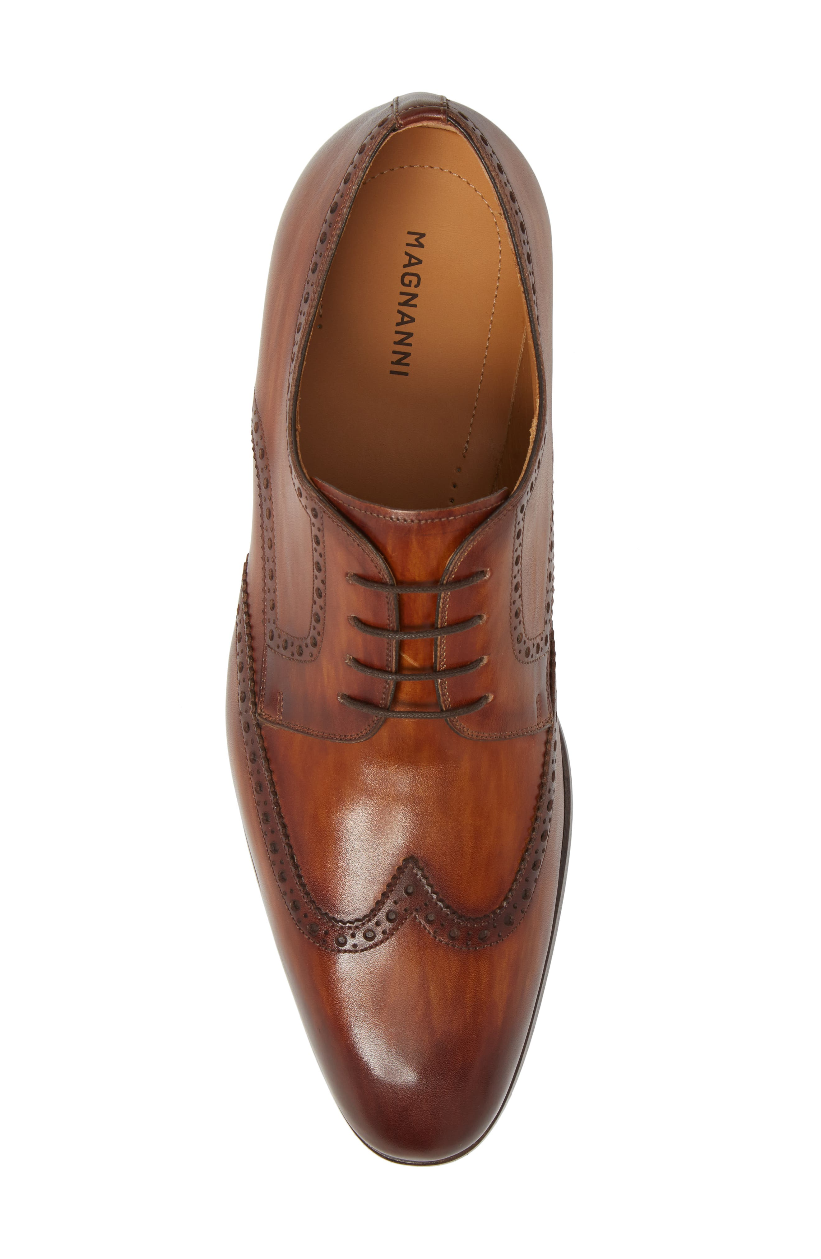 Bosco Wingtip Derby,                             Alternate thumbnail 5, color,                             BROWN LEATHER