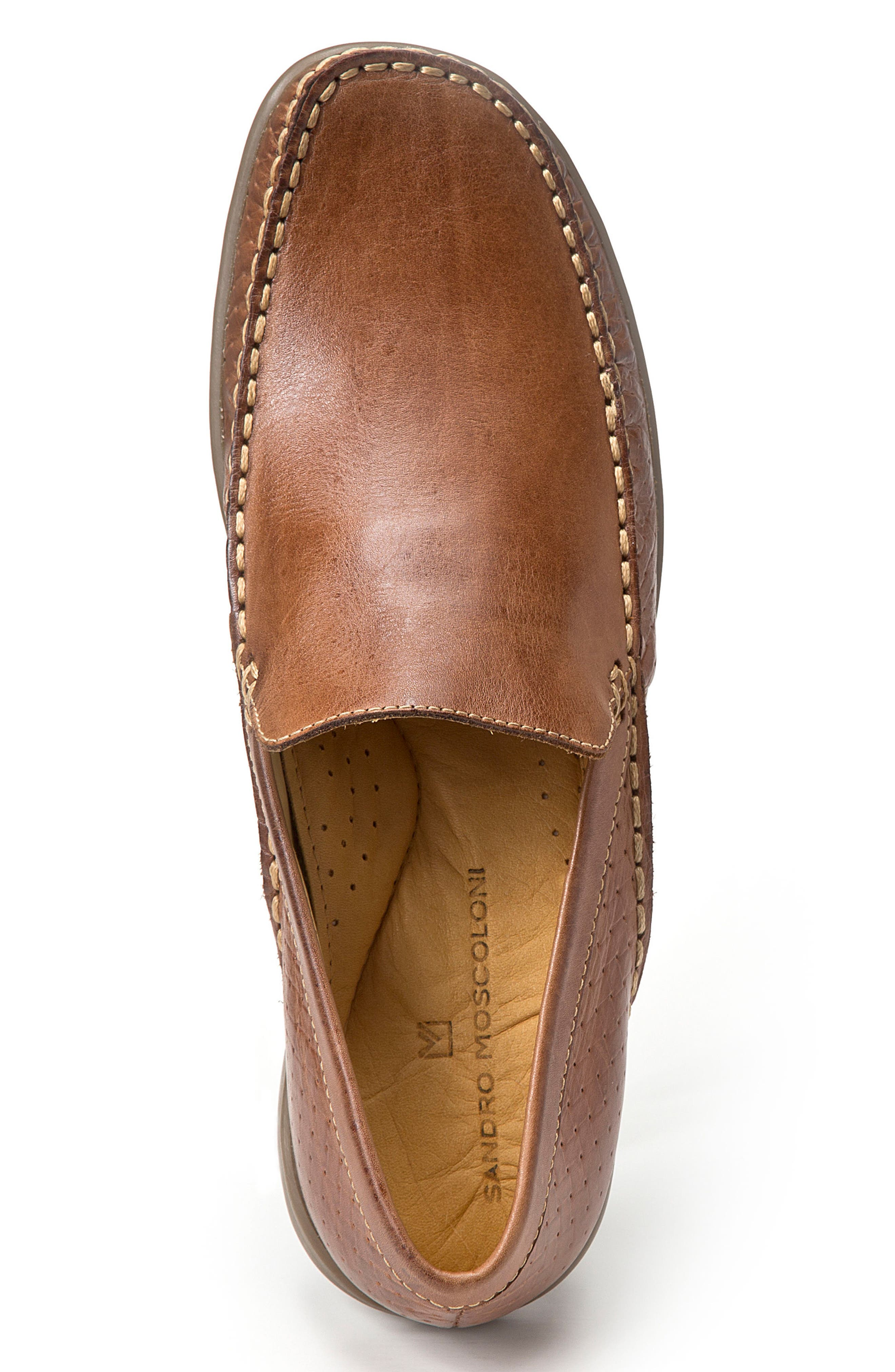 Dudley Moc Toe Loafer,                             Alternate thumbnail 3, color,                             TAN LEATHER
