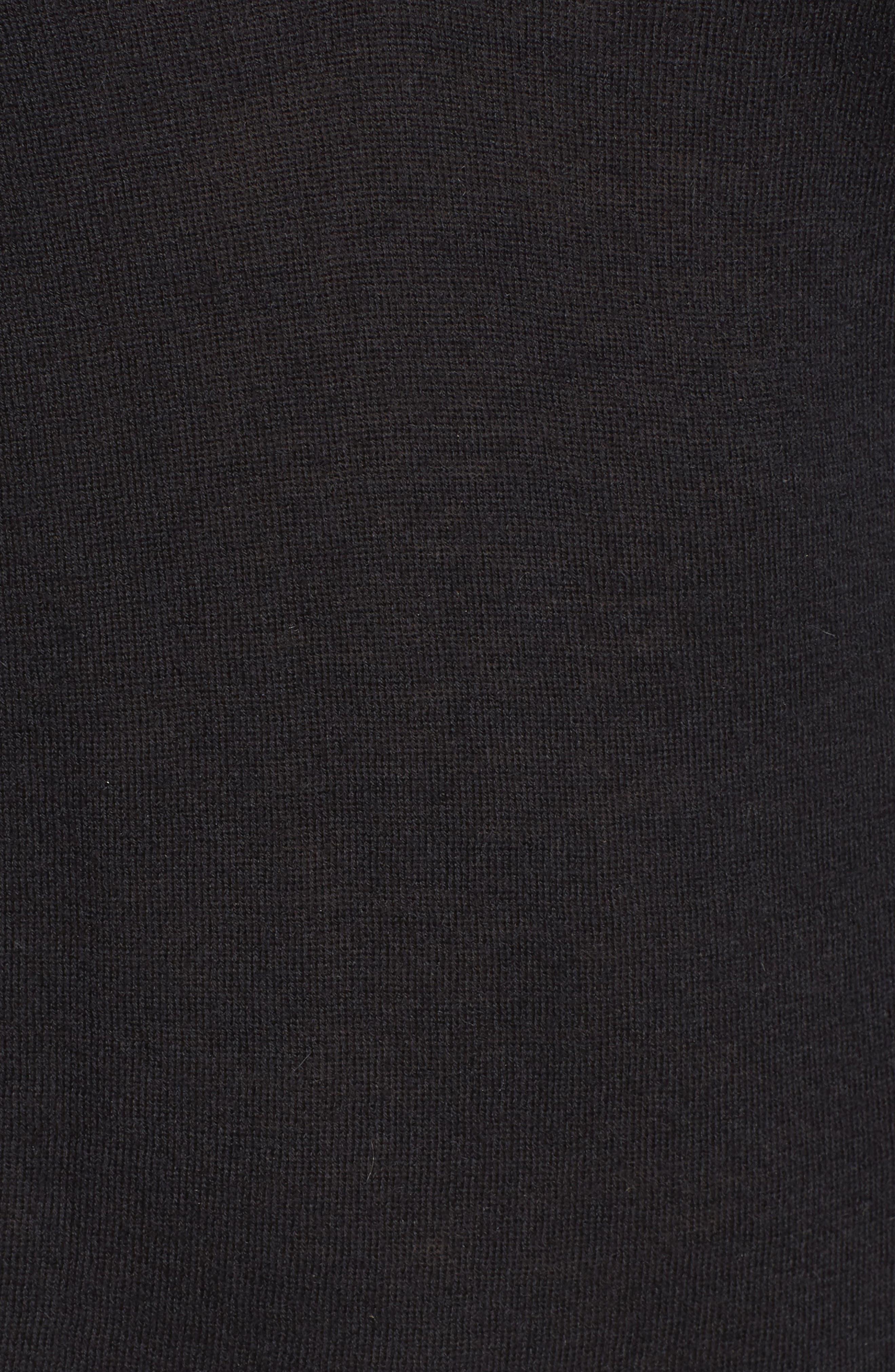 Uma V-Neck Cashmere Sweater,                             Alternate thumbnail 5, color,                             001