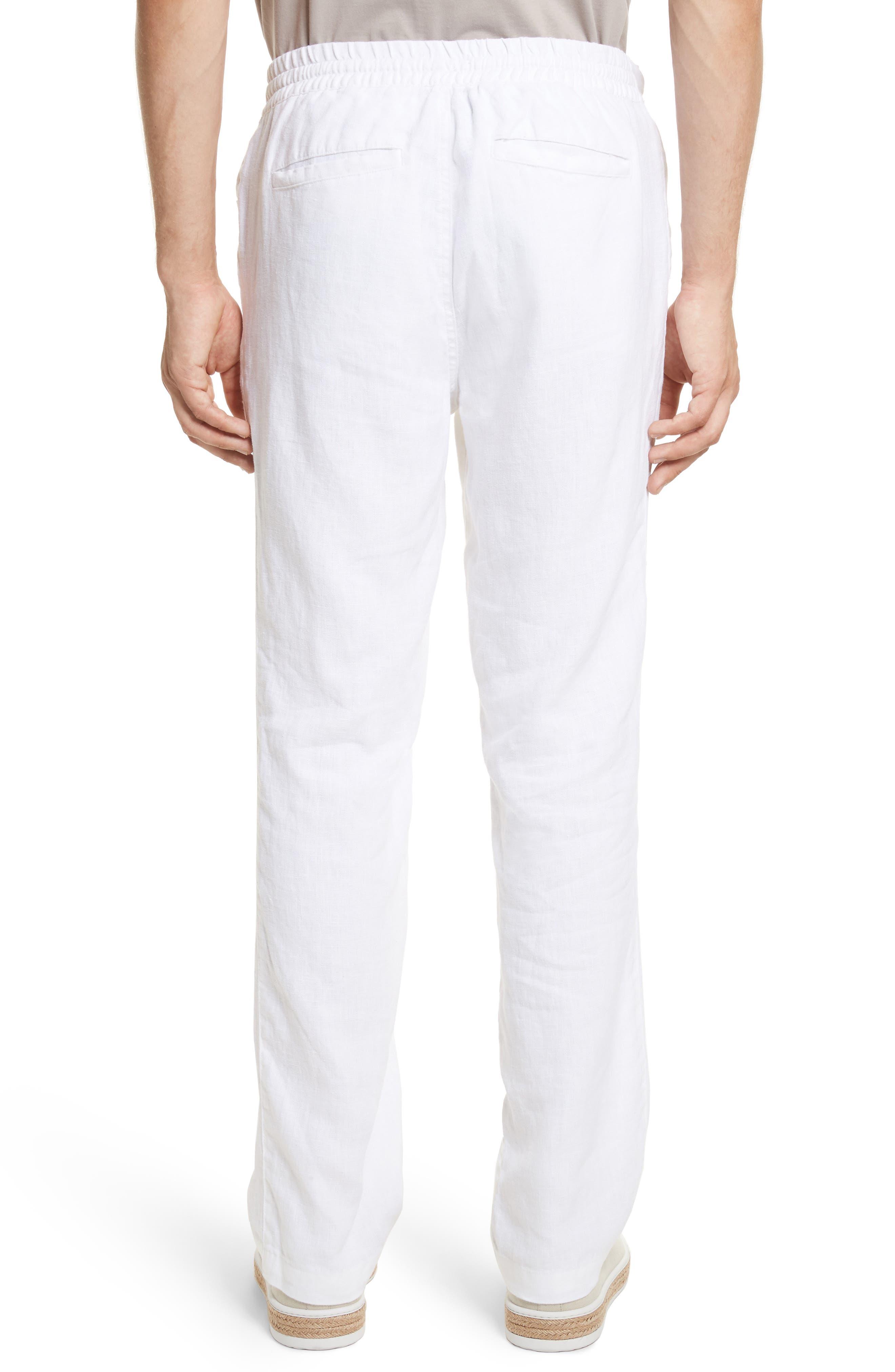 Collin Linen Pants,                             Alternate thumbnail 2, color,                             100