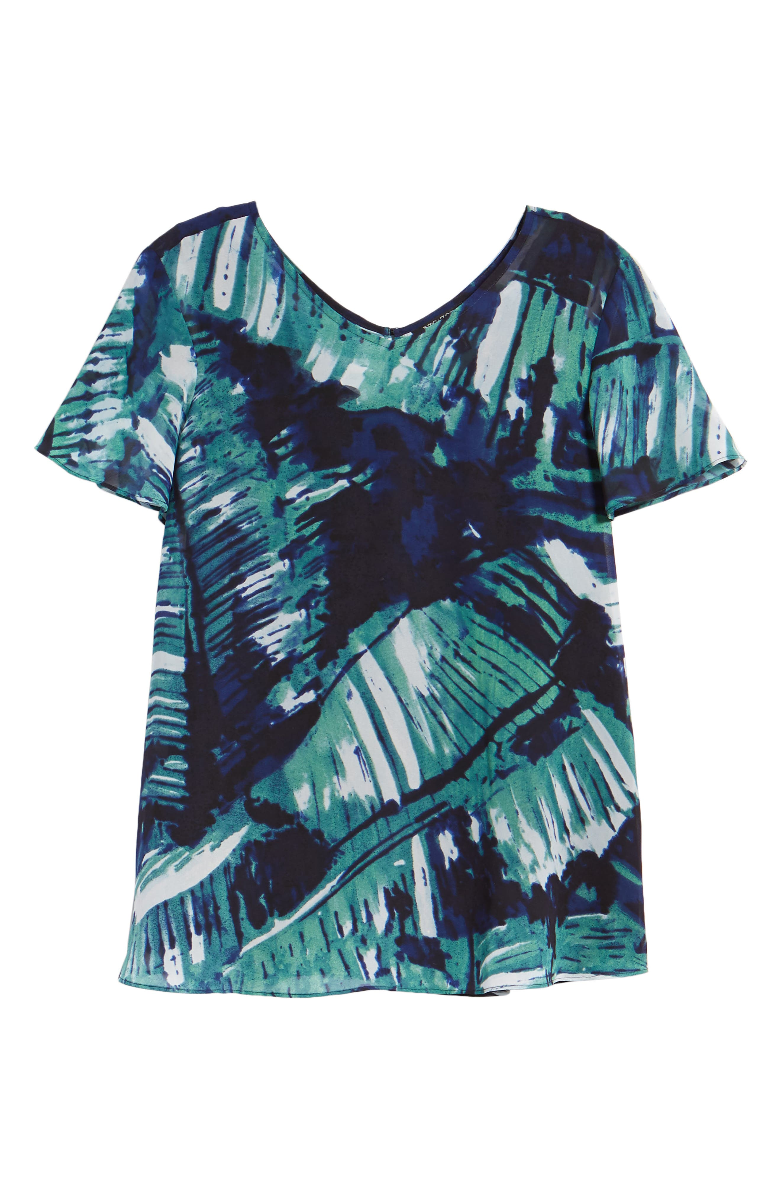 Leaf an Impression Print Top,                             Alternate thumbnail 7, color,                             390