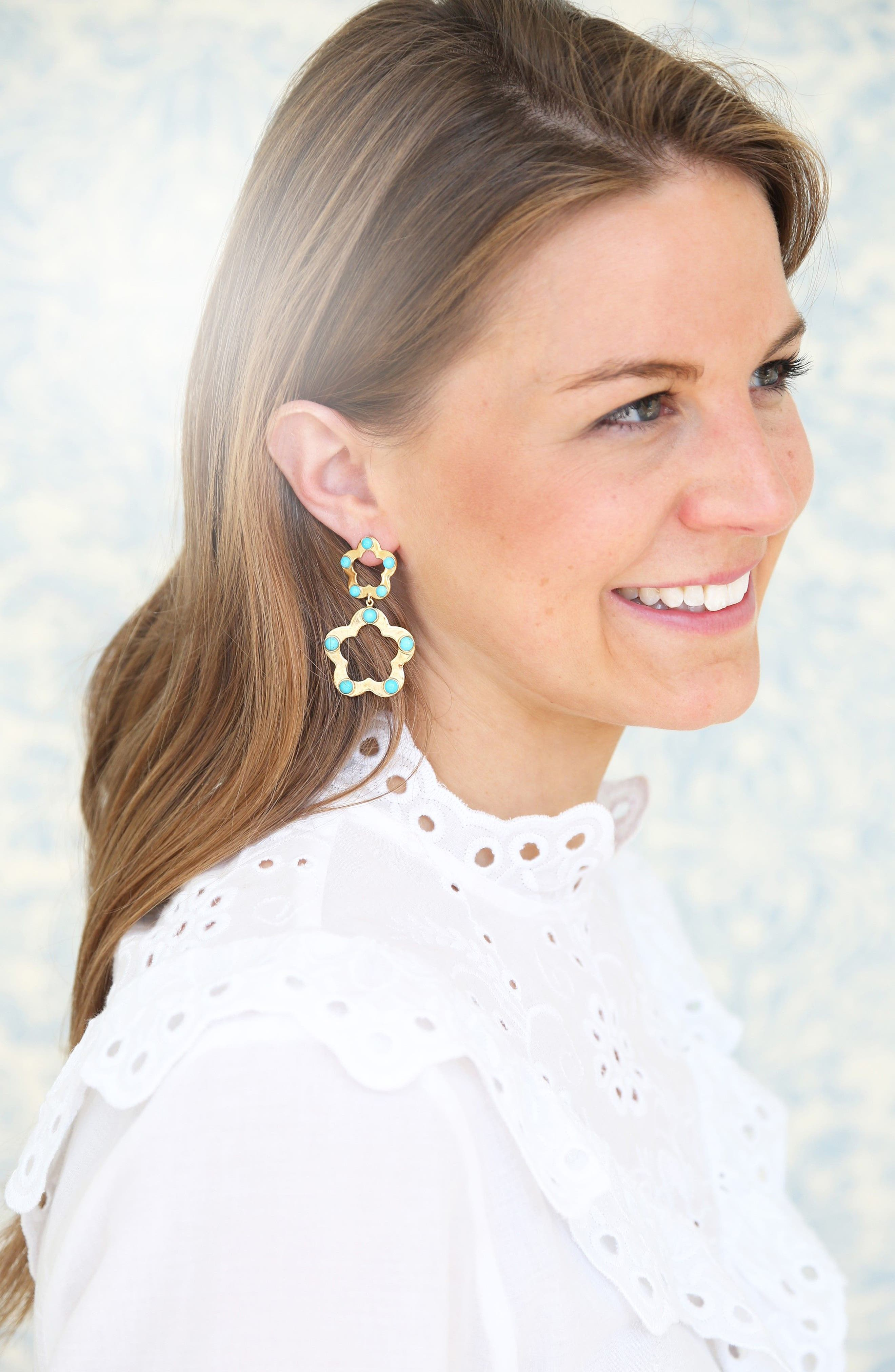 Olivia Drop Earrings,                             Alternate thumbnail 3, color,