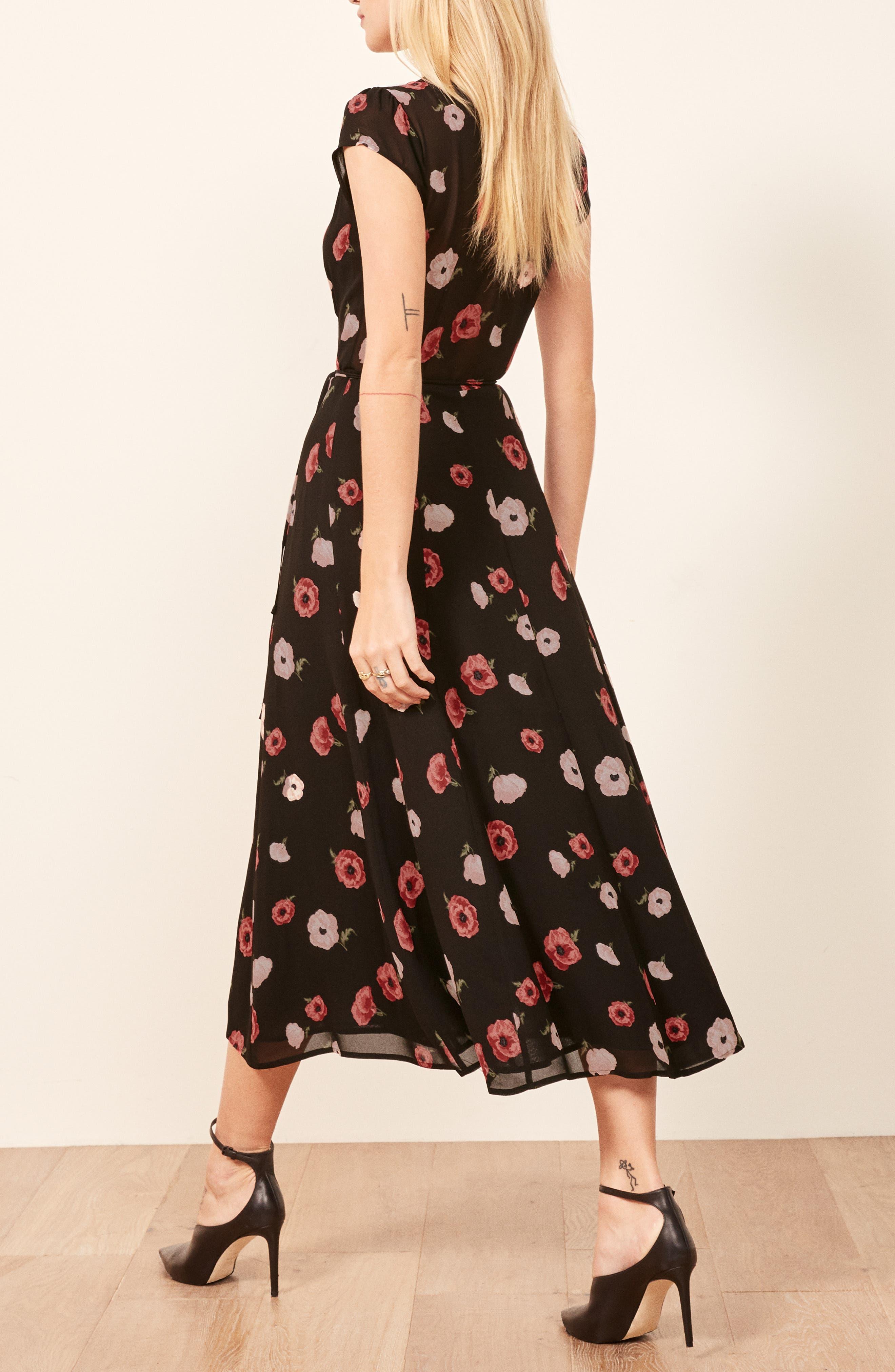 Carina Midi Wrap Dress,                             Alternate thumbnail 3, color,                             JENNIFER