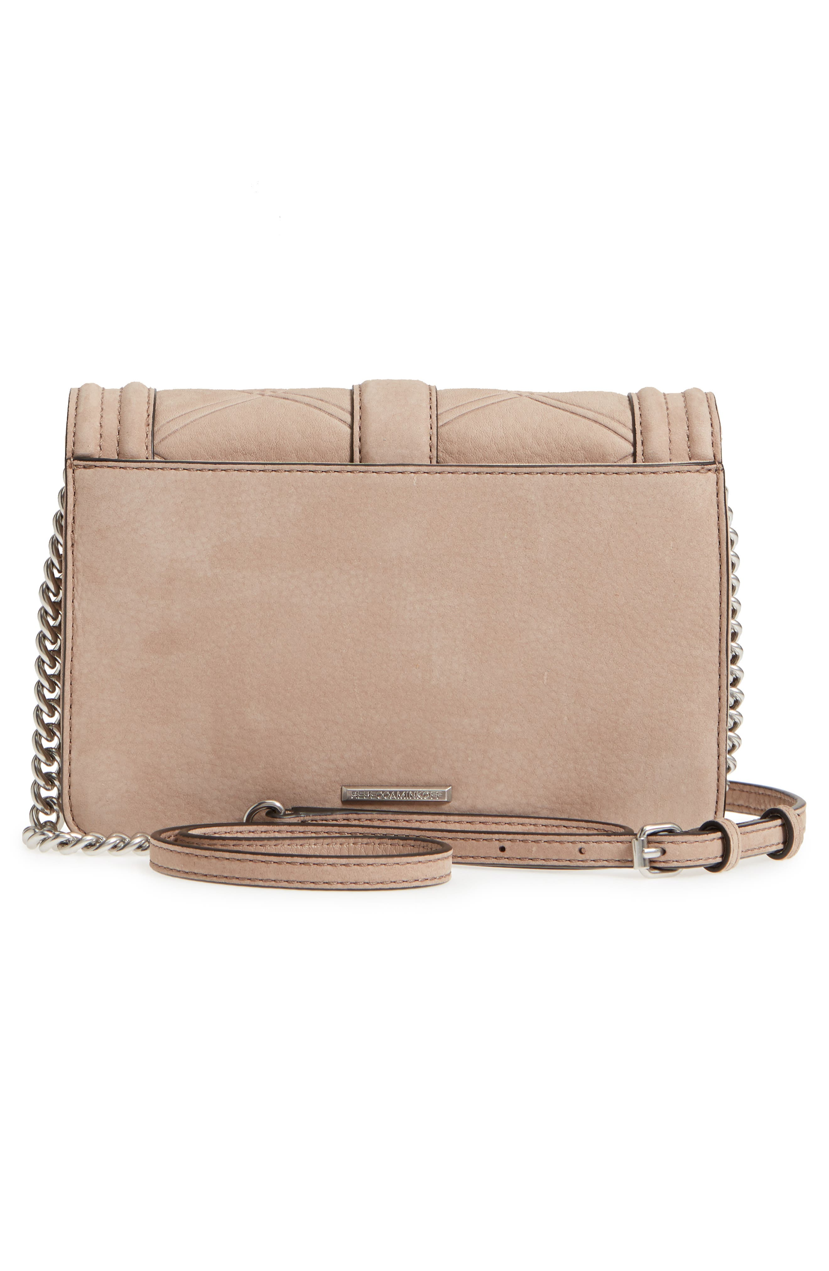 Small Love Nubuck Leather Crossbody Bag,                             Alternate thumbnail 12, color,