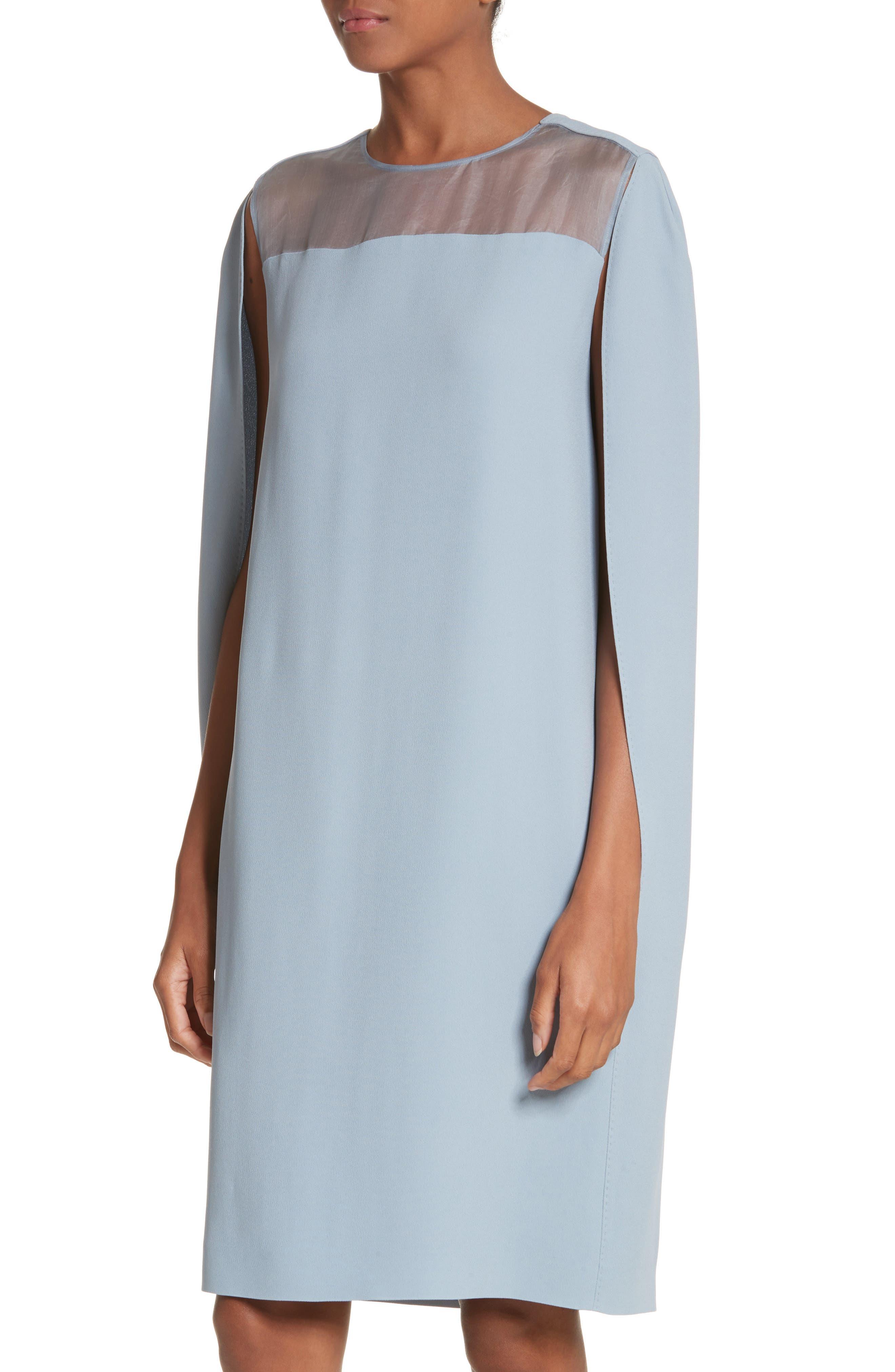 Sospiro Cape Shift Dress,                             Alternate thumbnail 8, color,