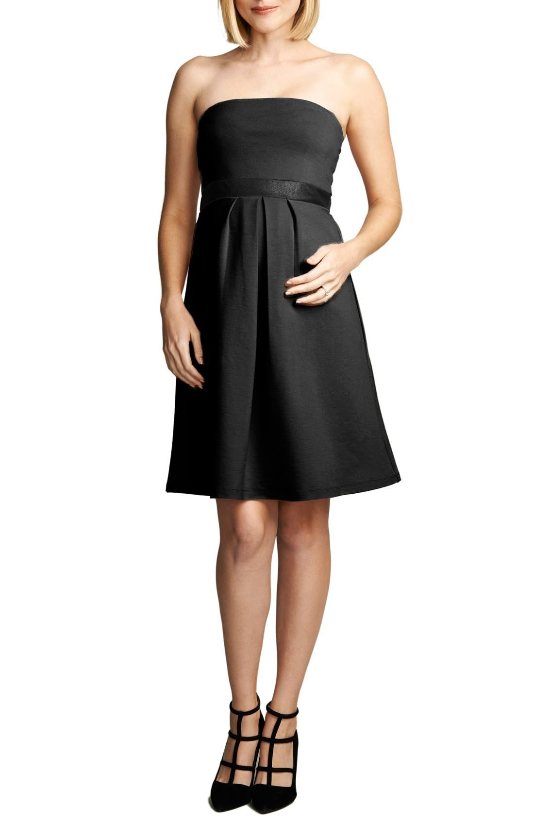 Strapless Maternity Dress,                         Main,                         color, 001