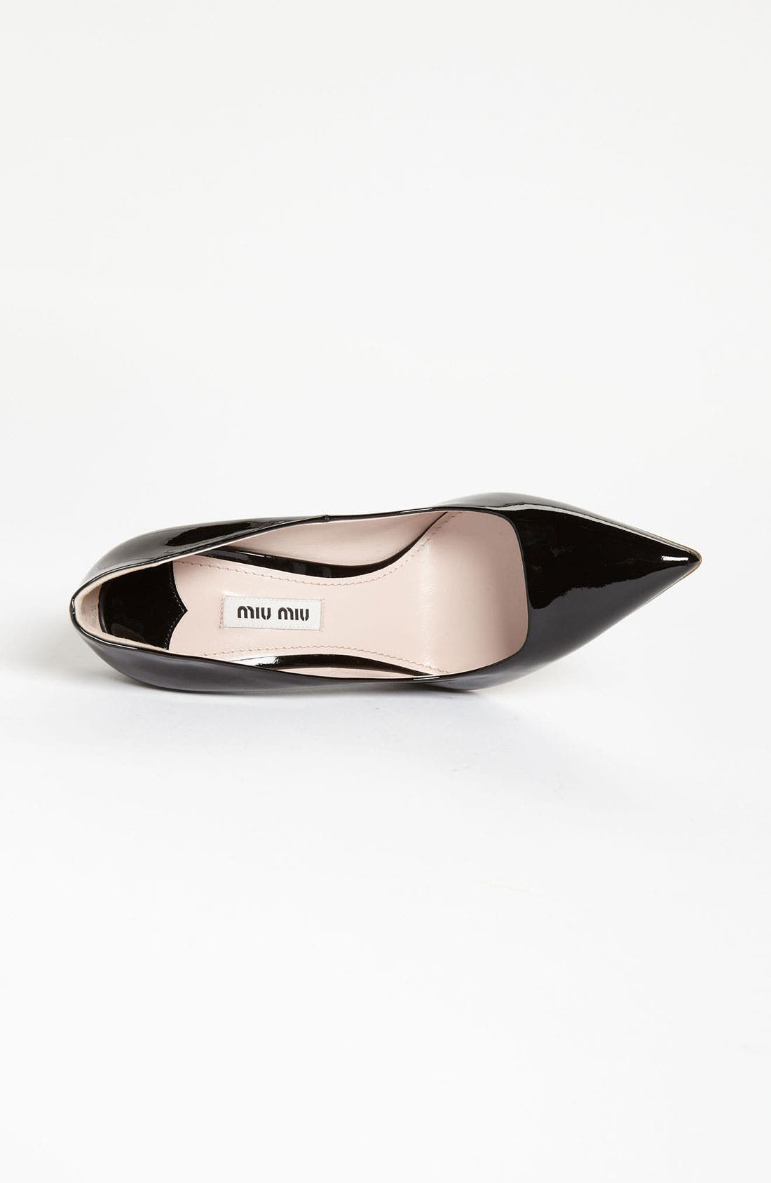 Glitter Sole Pointy Toe Pump,                             Alternate thumbnail 4, color,                             001