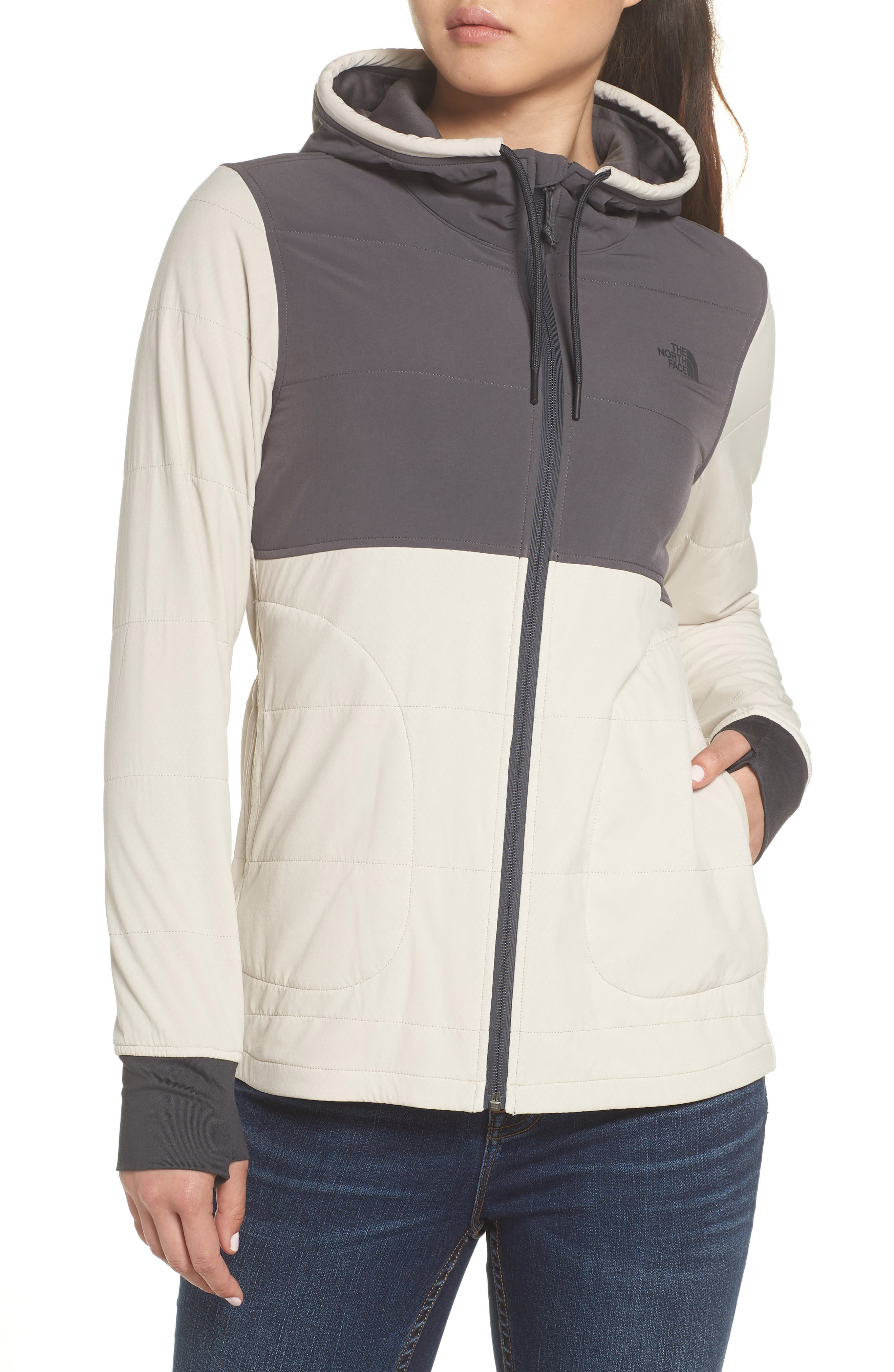 Mountain Zip Hooded Sweatshirt,                             Alternate thumbnail 4, color,                             PEYOTE BEIGE/ GRAPHITE GREY