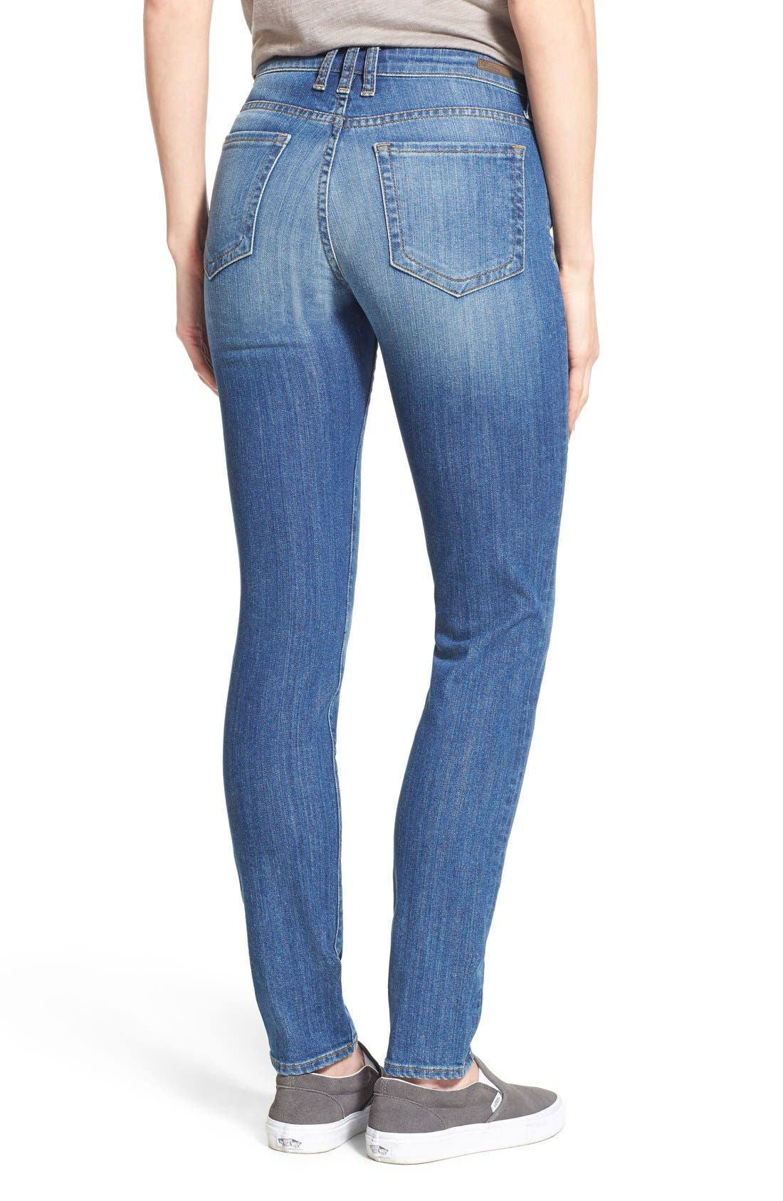 'Diana' Stretch Skinny Jeans,                             Alternate thumbnail 5, color,                             402