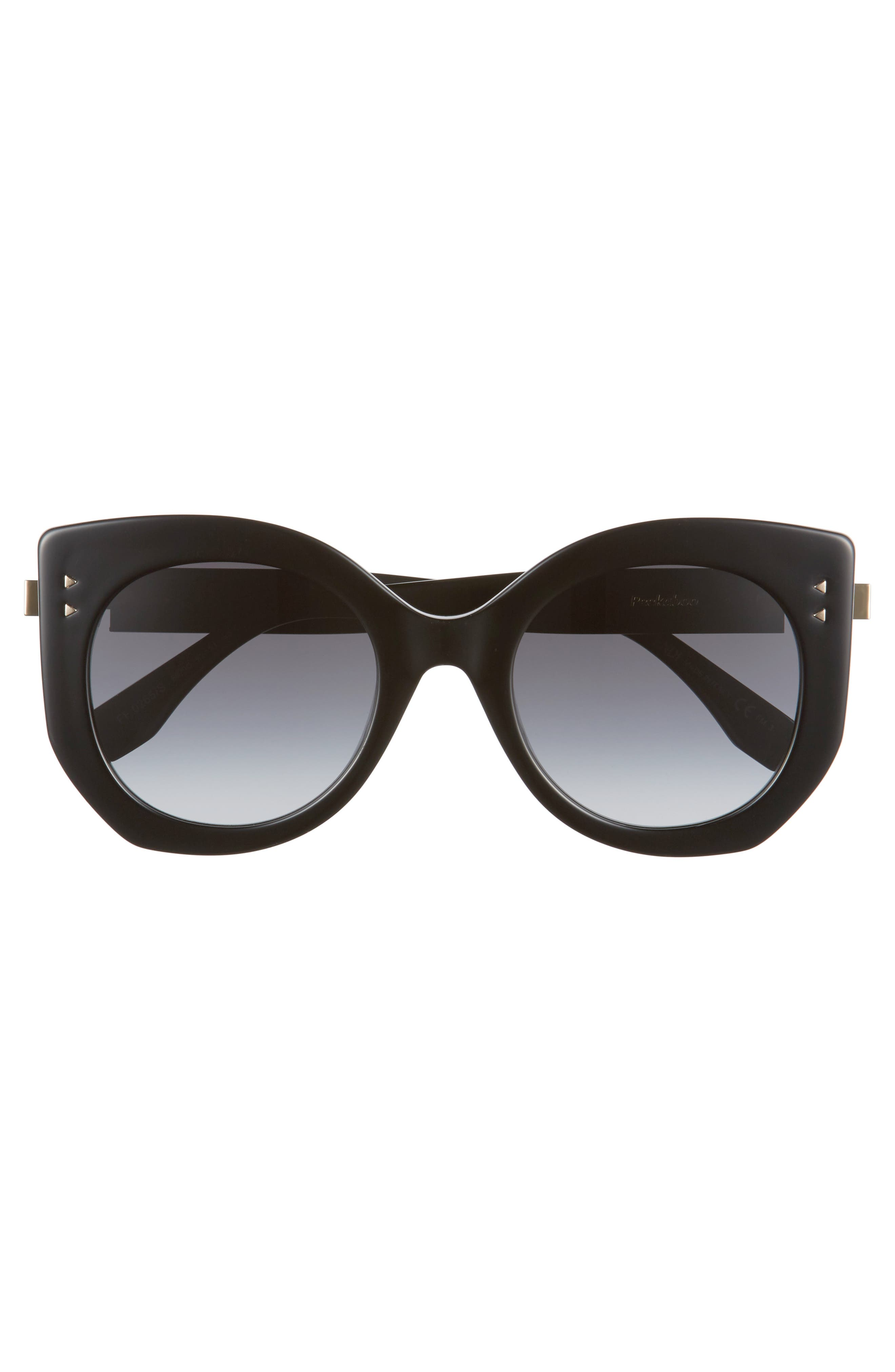 52mm Butterfly Sunglasses,                             Alternate thumbnail 3, color,                             001