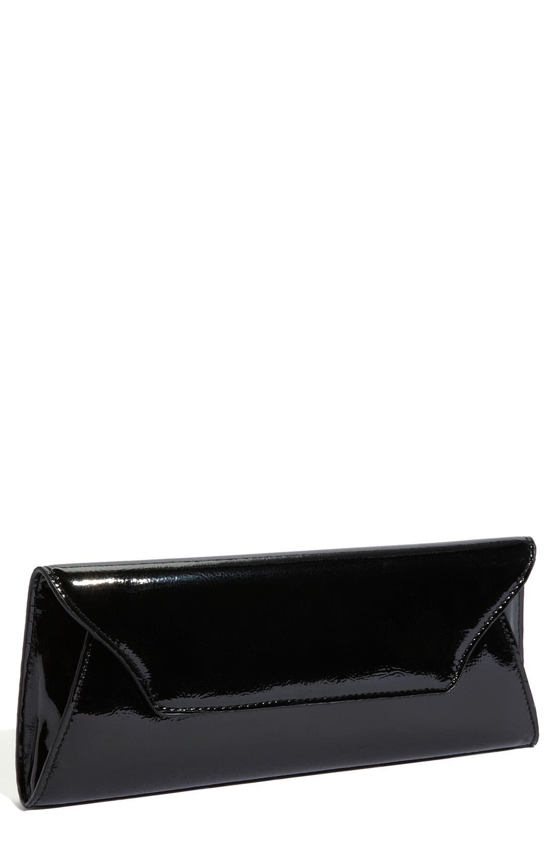 'Riley' Faux Leather Envelope Clutch,                             Main thumbnail 1, color,                             001
