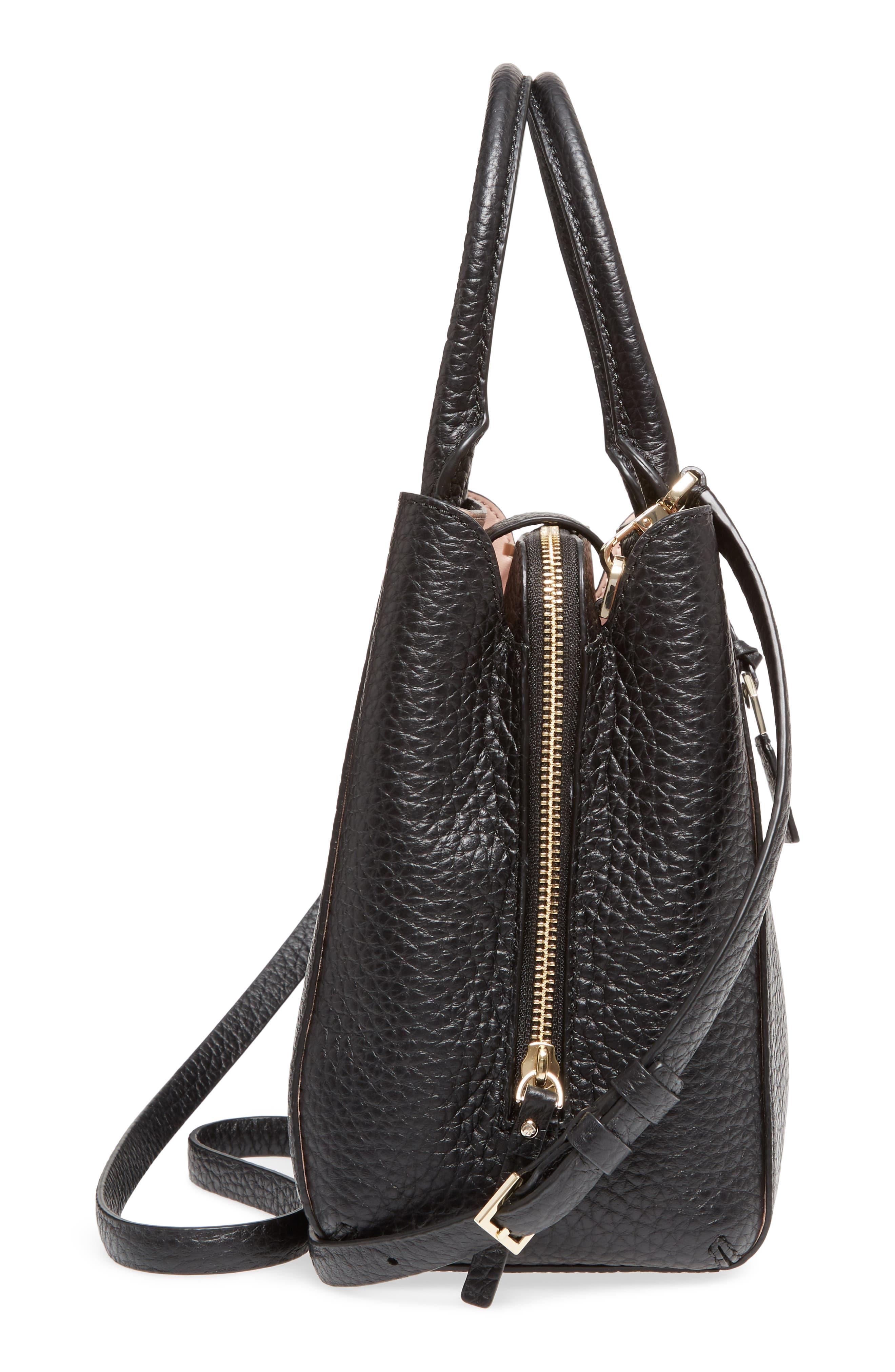 carter street - aliana leather satchel,                             Alternate thumbnail 5, color,                             001