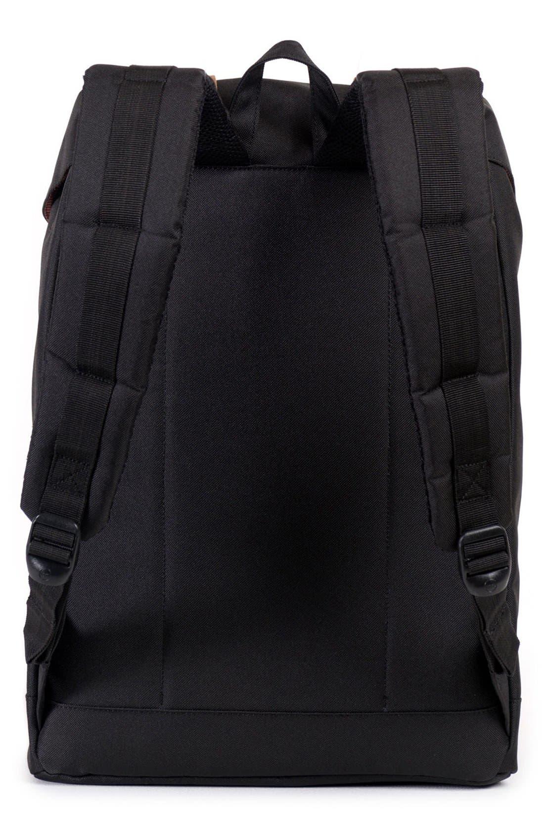 'Retreat' Backpack,                             Alternate thumbnail 5, color,                             BLACK