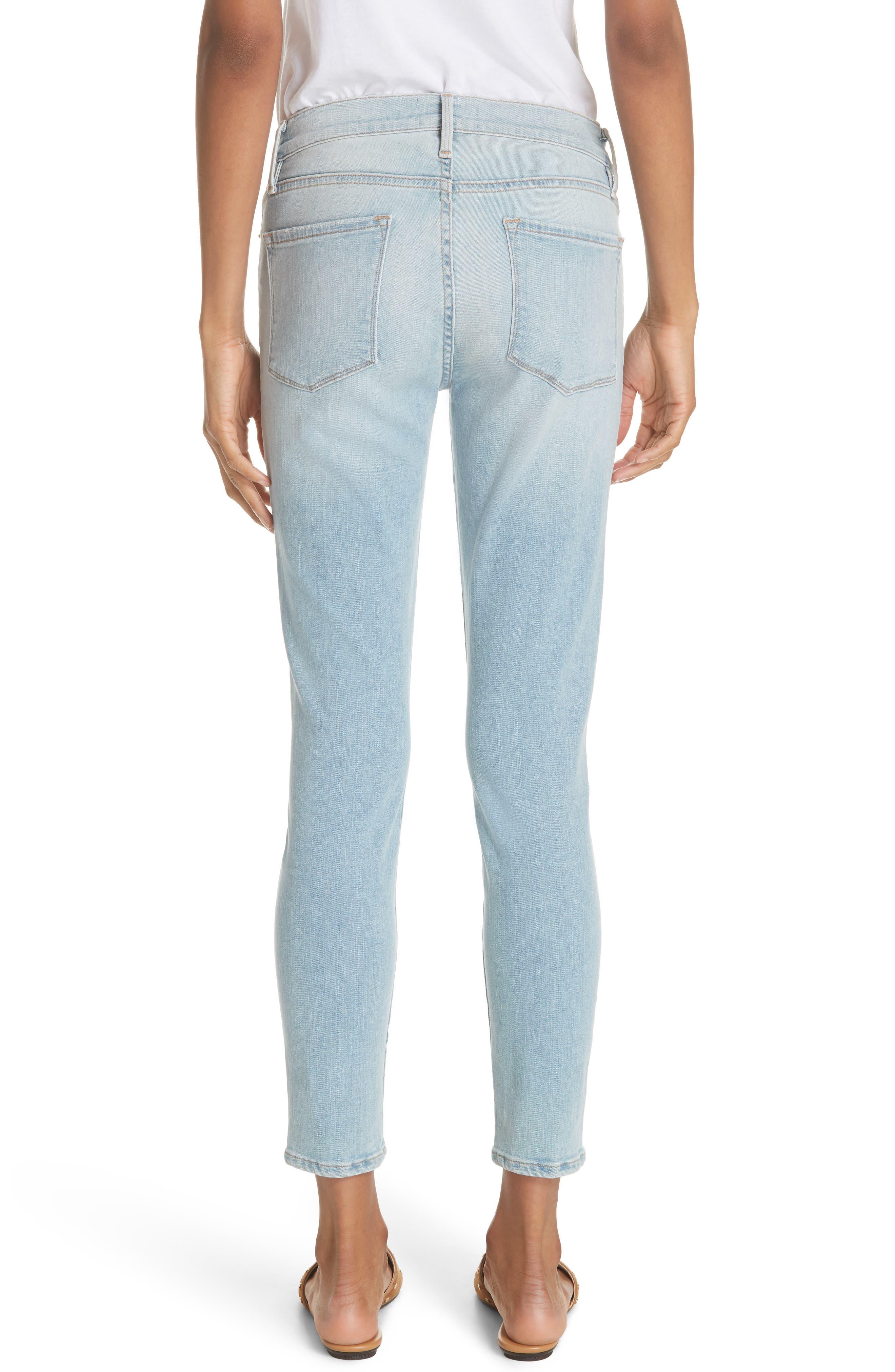 Le Skinny de Jeanne Crop Jeans,                             Alternate thumbnail 2, color,                             SOUTHALL