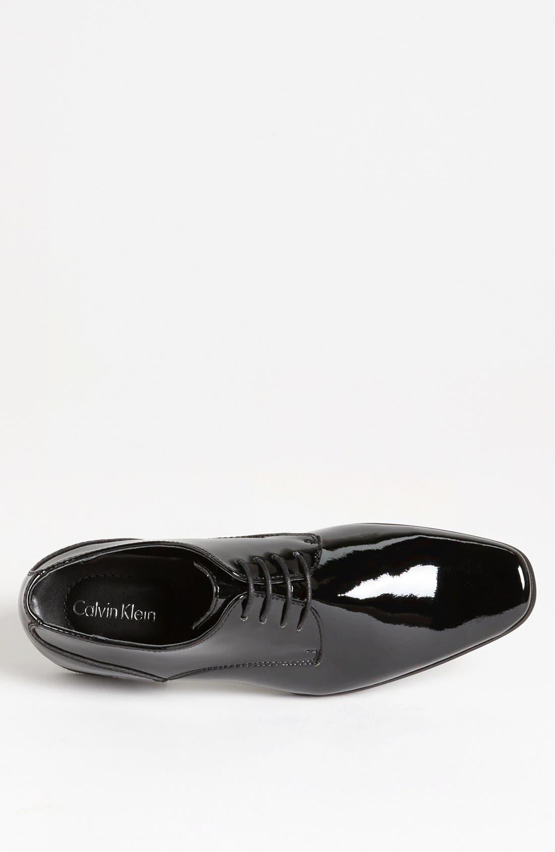 'Brodie' Plain Toe Derby,                             Alternate thumbnail 3, color,                             BLACK PATENT