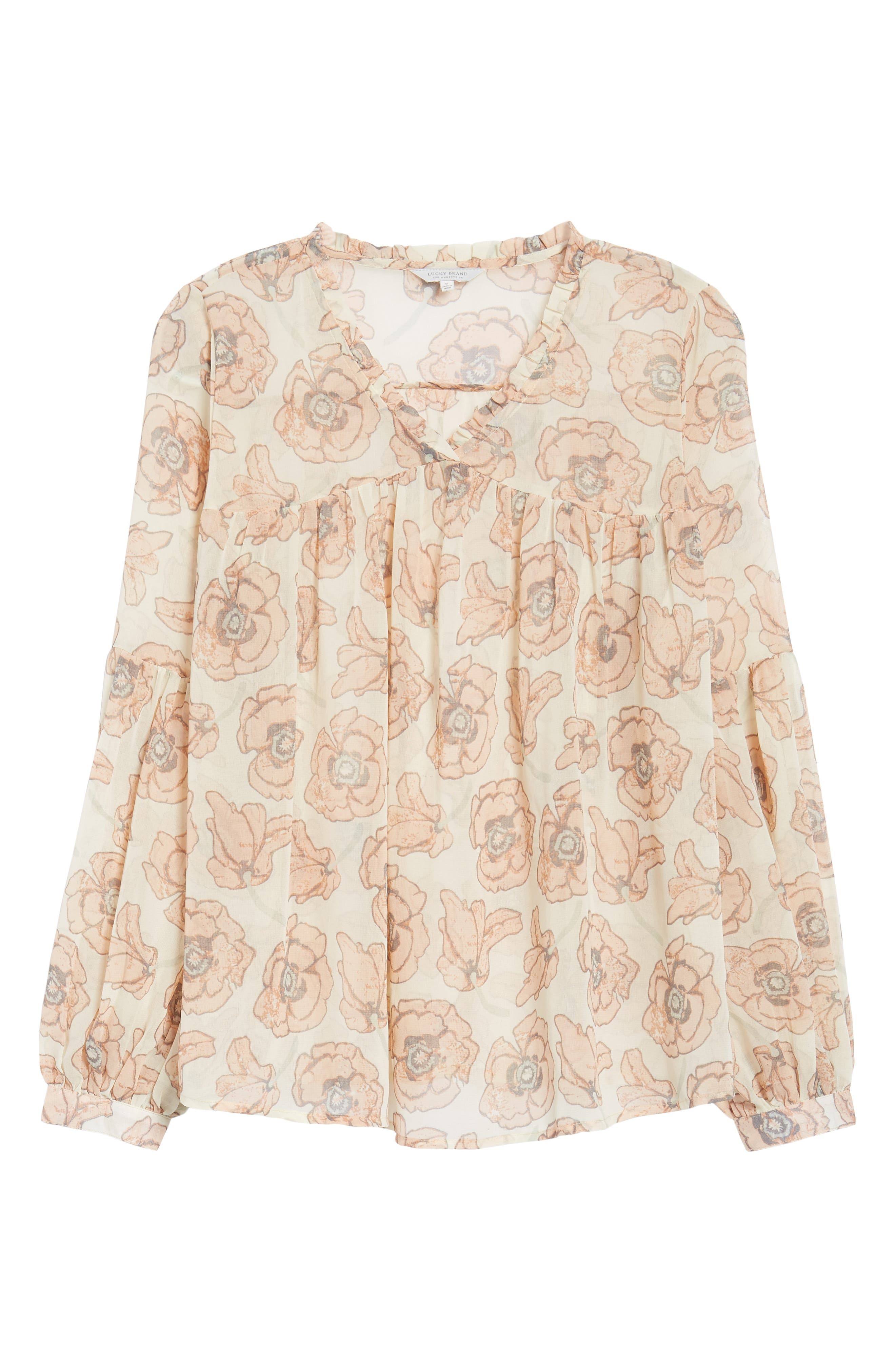 Exploded Floral Top,                             Alternate thumbnail 6, color,                             690