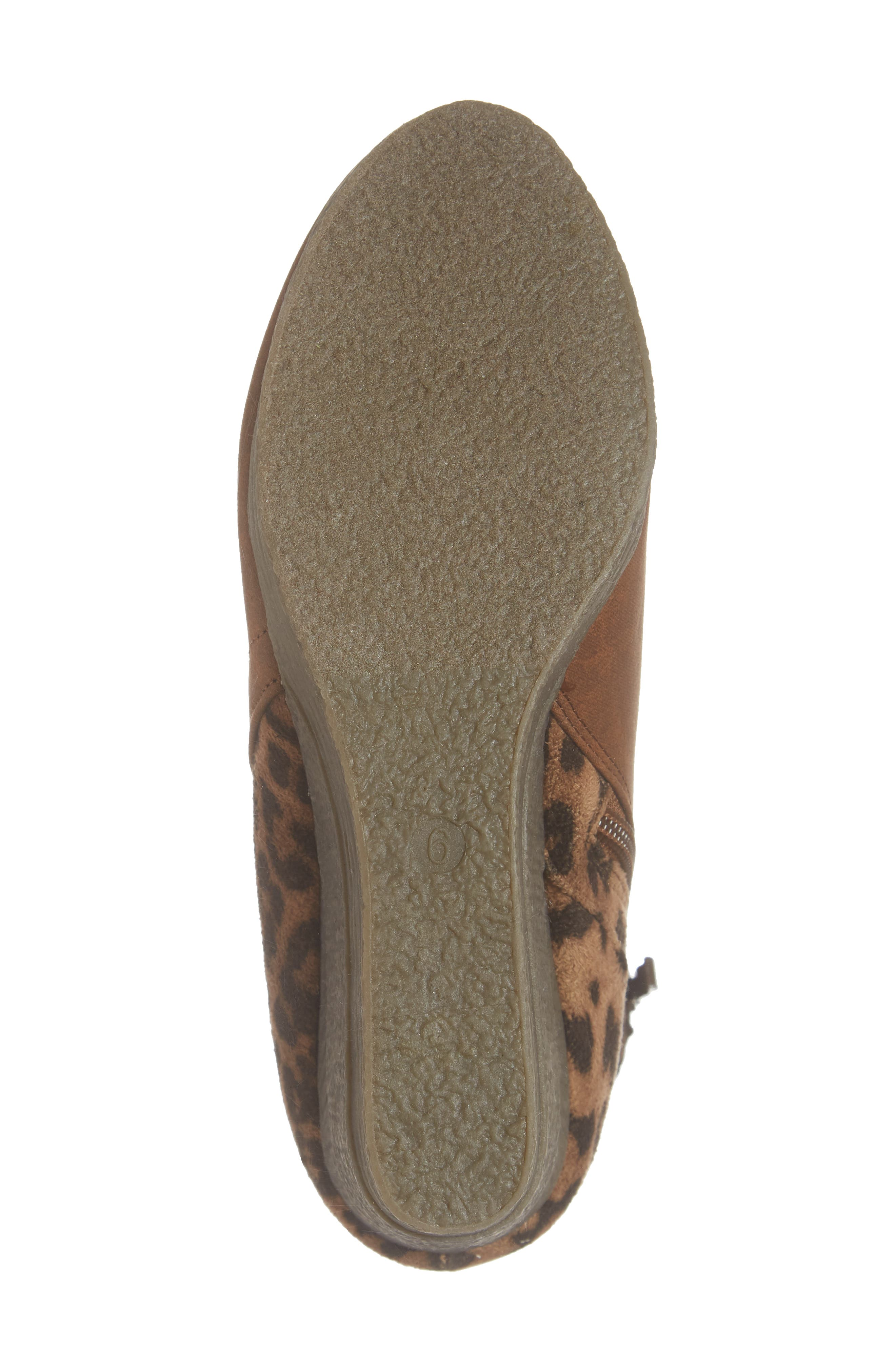 SBICCA,                             Colleen Wedge Boot,                             Alternate thumbnail 6, color,                             TAN LEOPARD FABRIC
