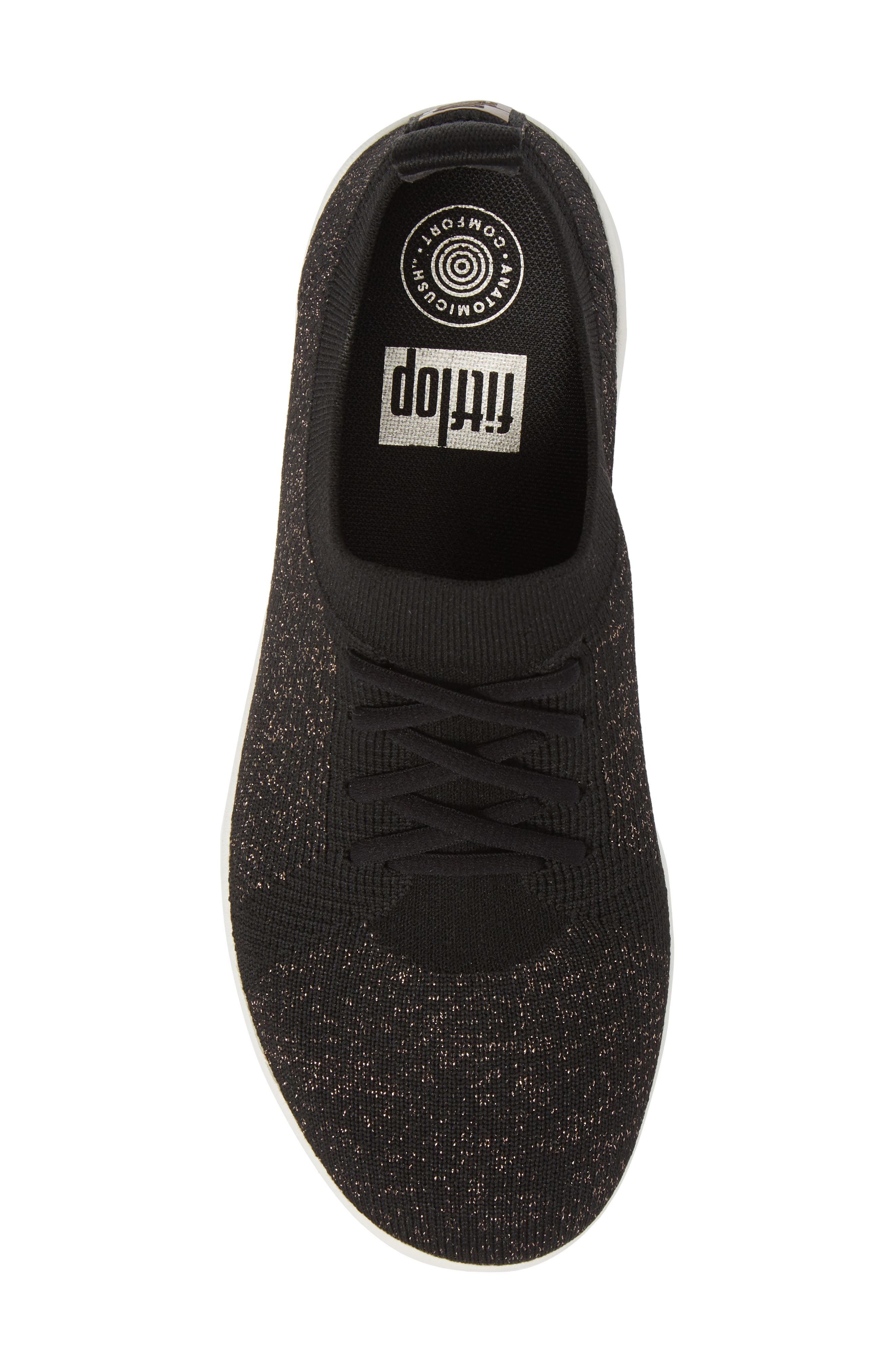 Uberknit<sup>™</sup> F-Sporty Sneaker,                             Alternate thumbnail 5, color,                             BLACK FABRIC