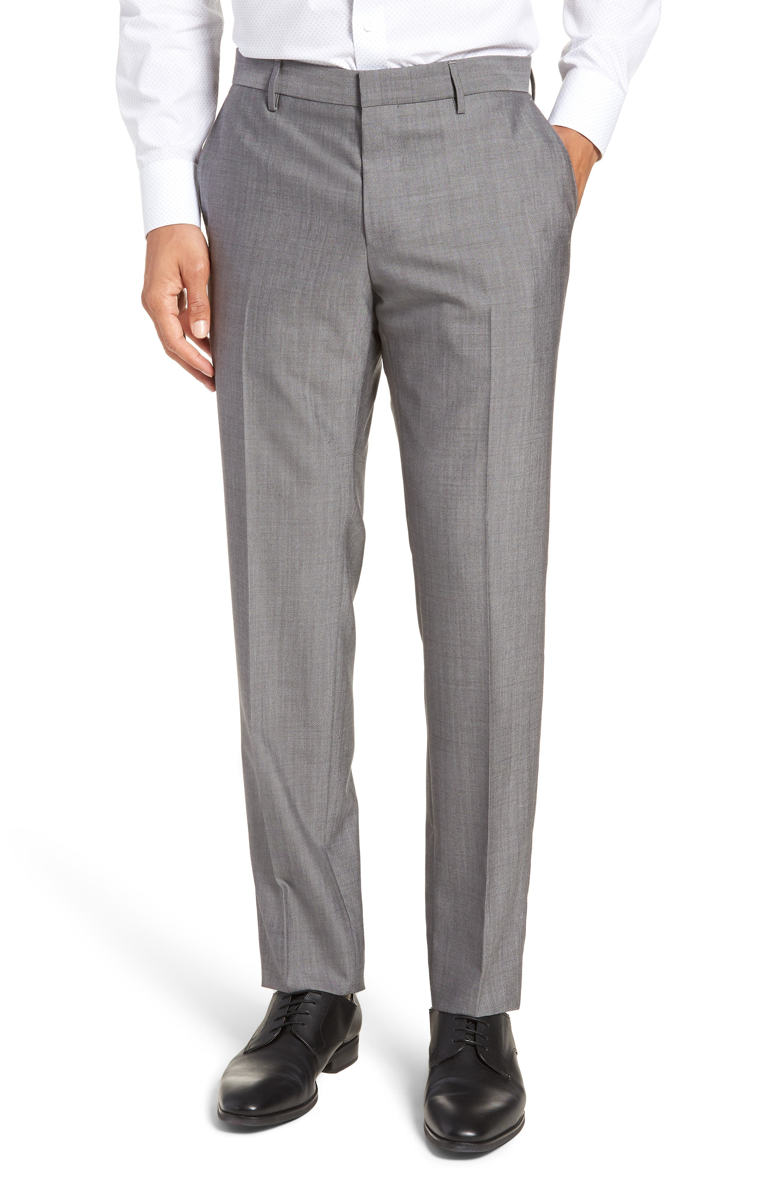 Novan/Ben Trim Fit Solid Wool Suit,                             Alternate thumbnail 6, color,                             069