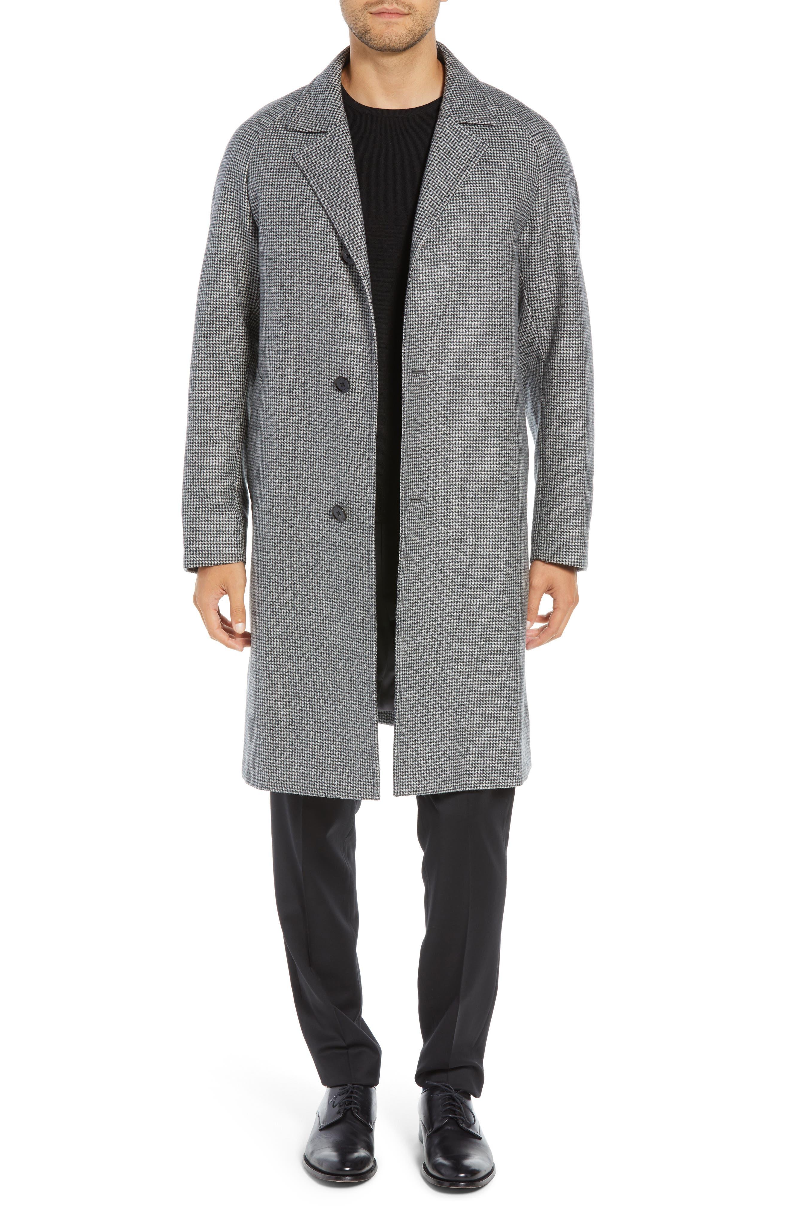 Wool Top Coat,                         Main,                         color, GREY